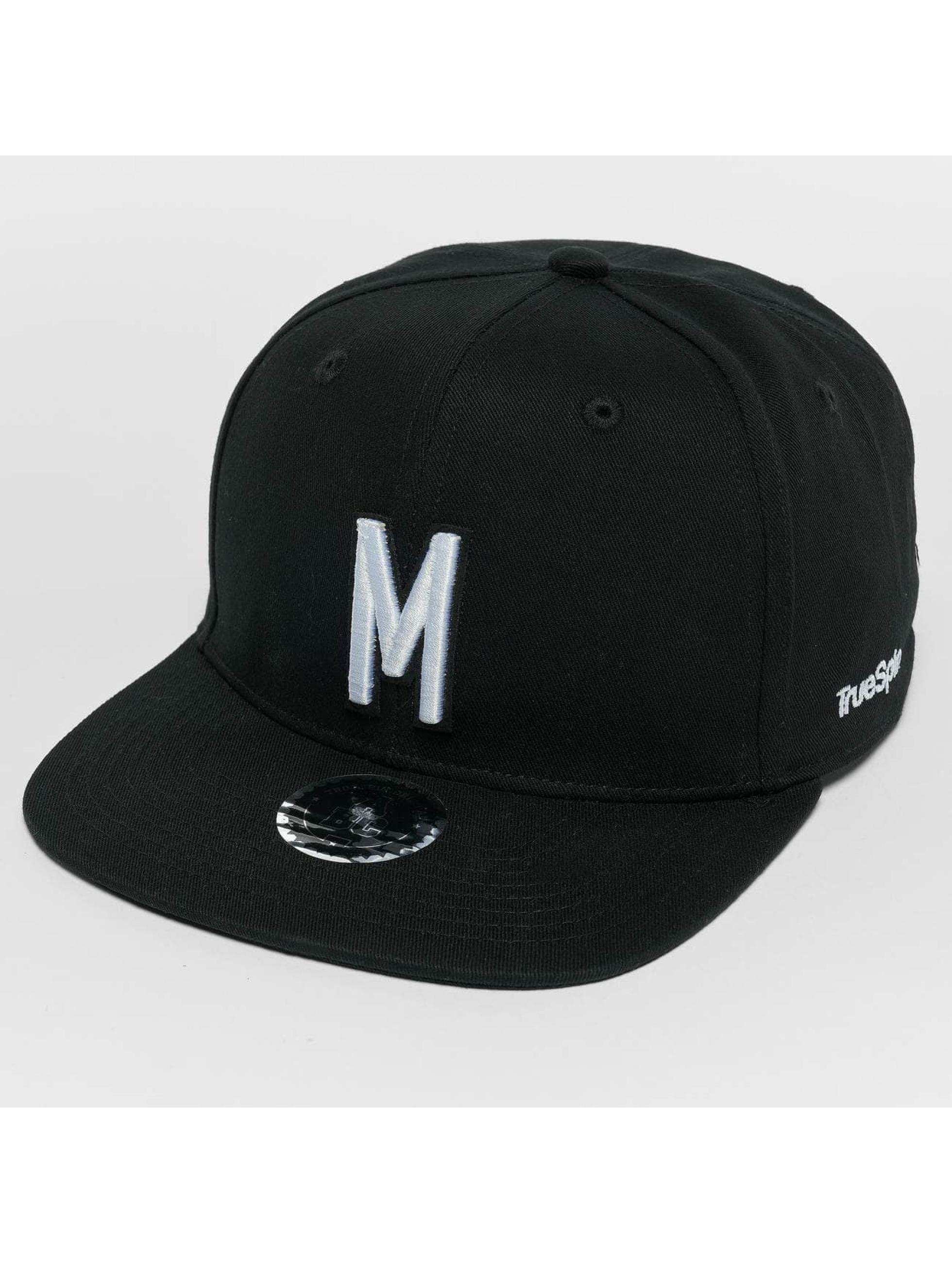 TrueSpin Snapback Caps ABC M musta