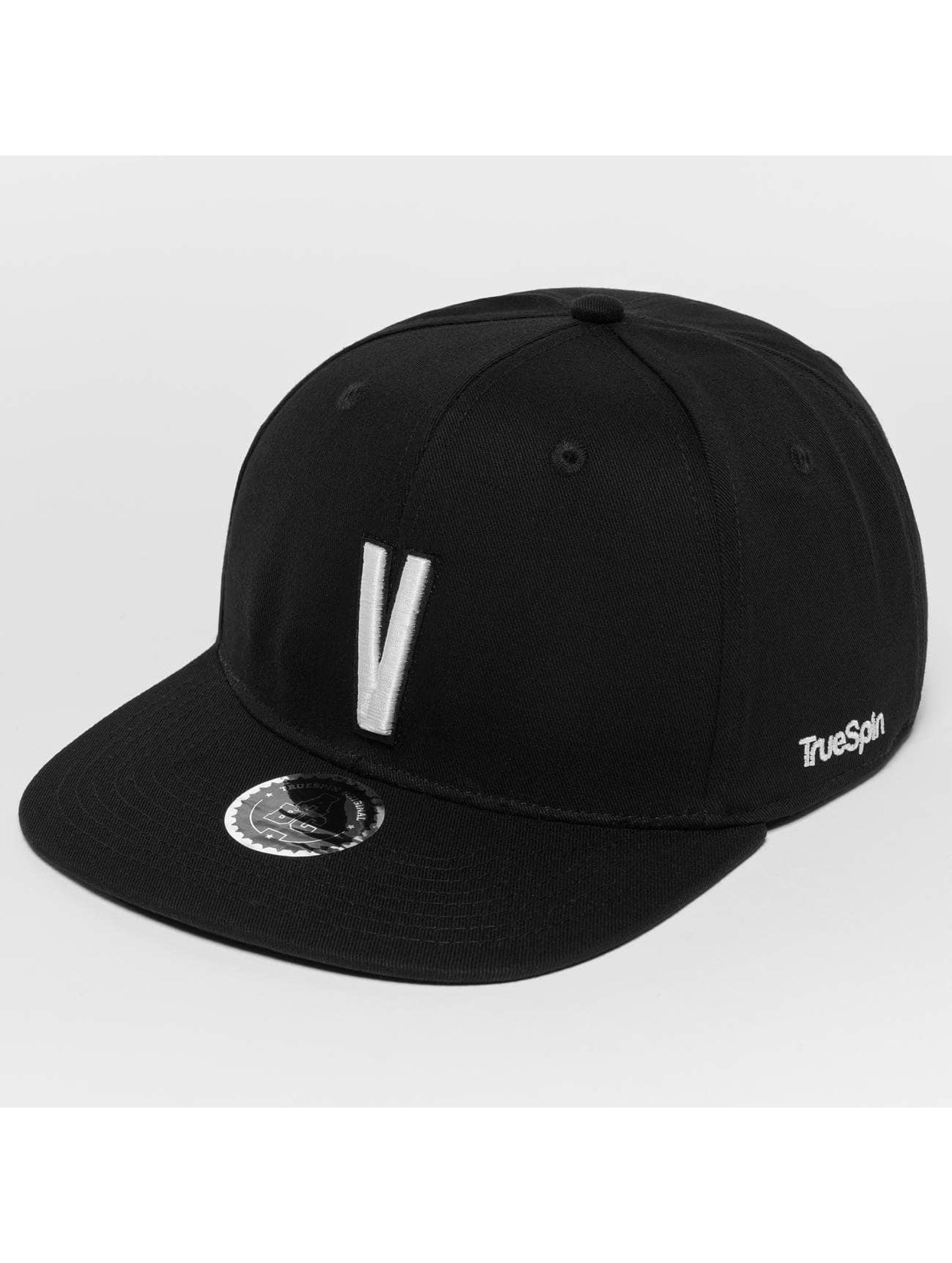 TrueSpin Snapback Caps ABC V musta