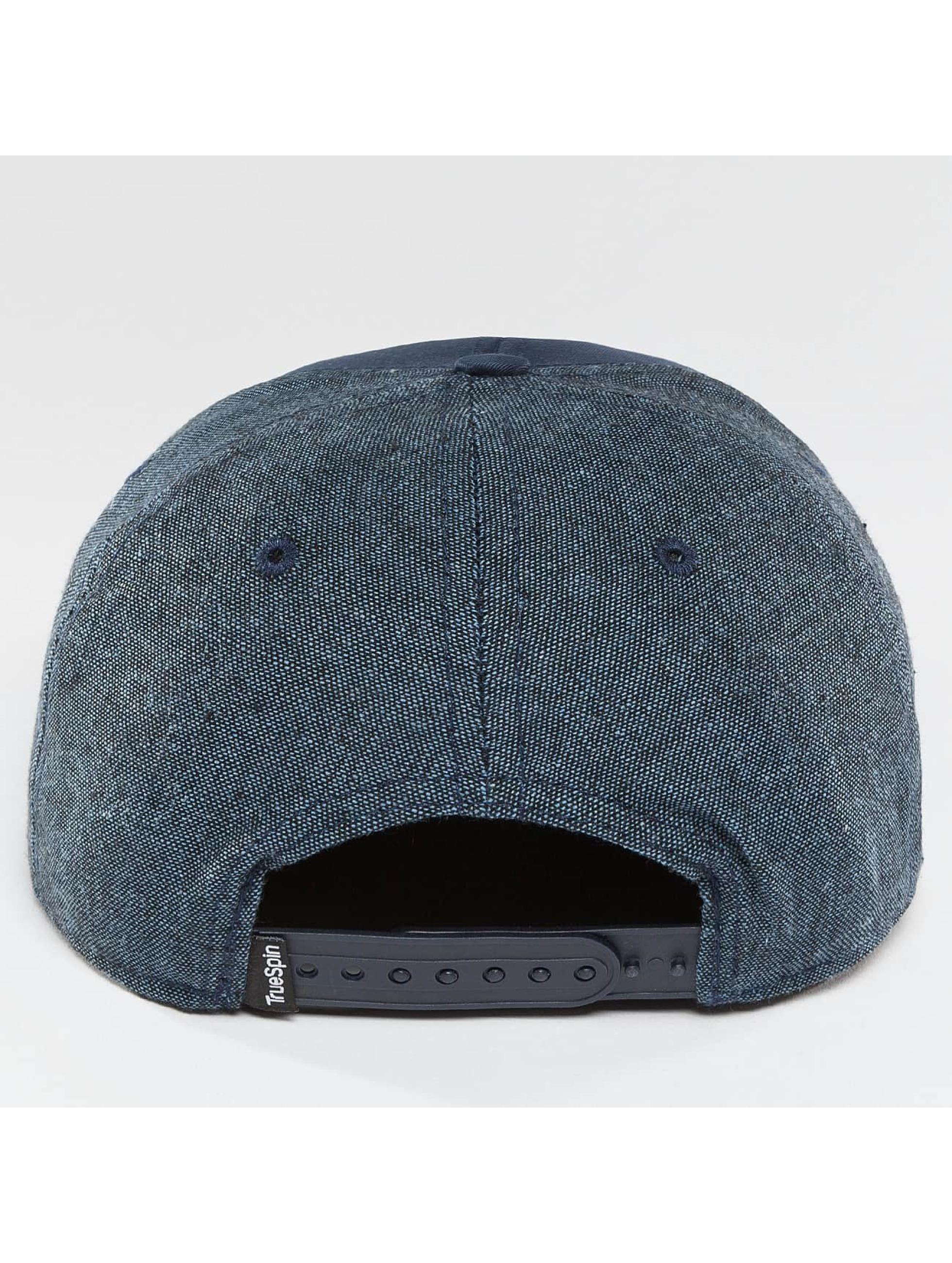 TrueSpin Snapback Caps New Velevet niebieski