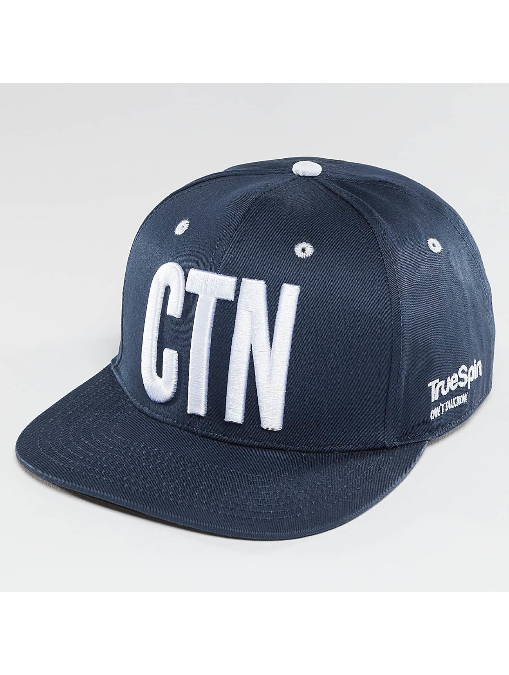 TrueSpin Snapback Caps Shorty CNT niebieski