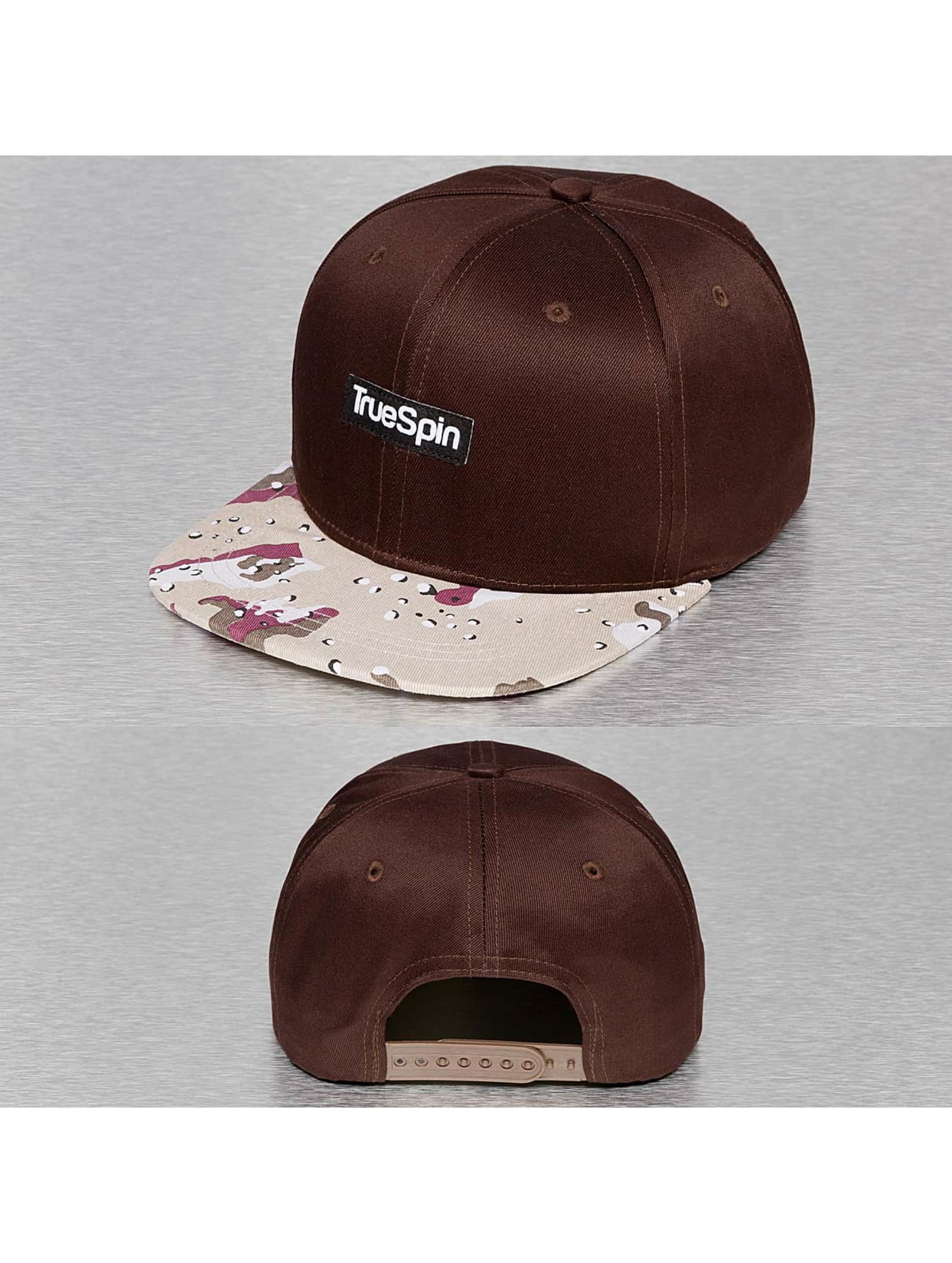 TrueSpin Snapback Caps Desert ruskea