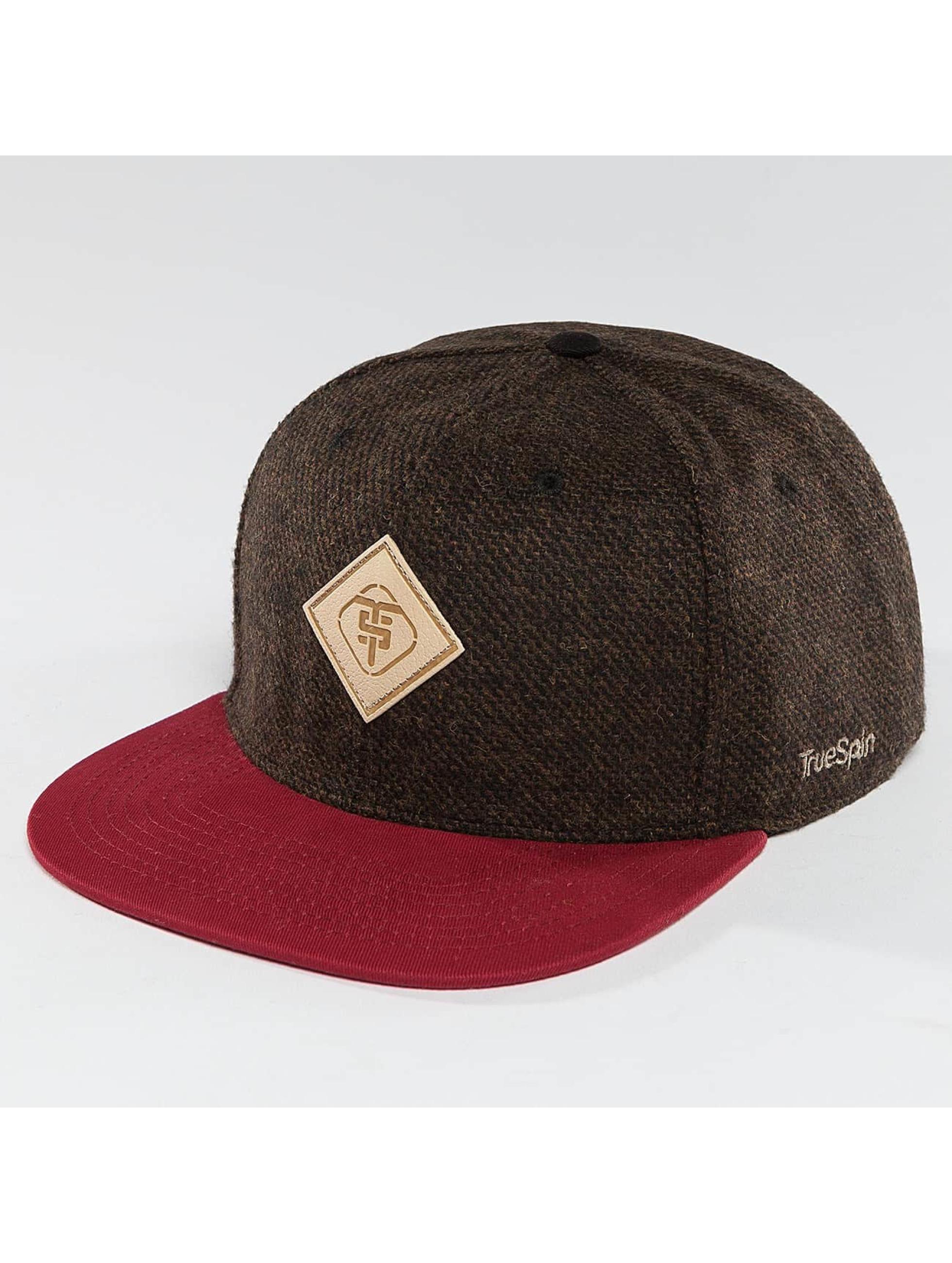 TrueSpin Snapback Caps Chevron ruskea