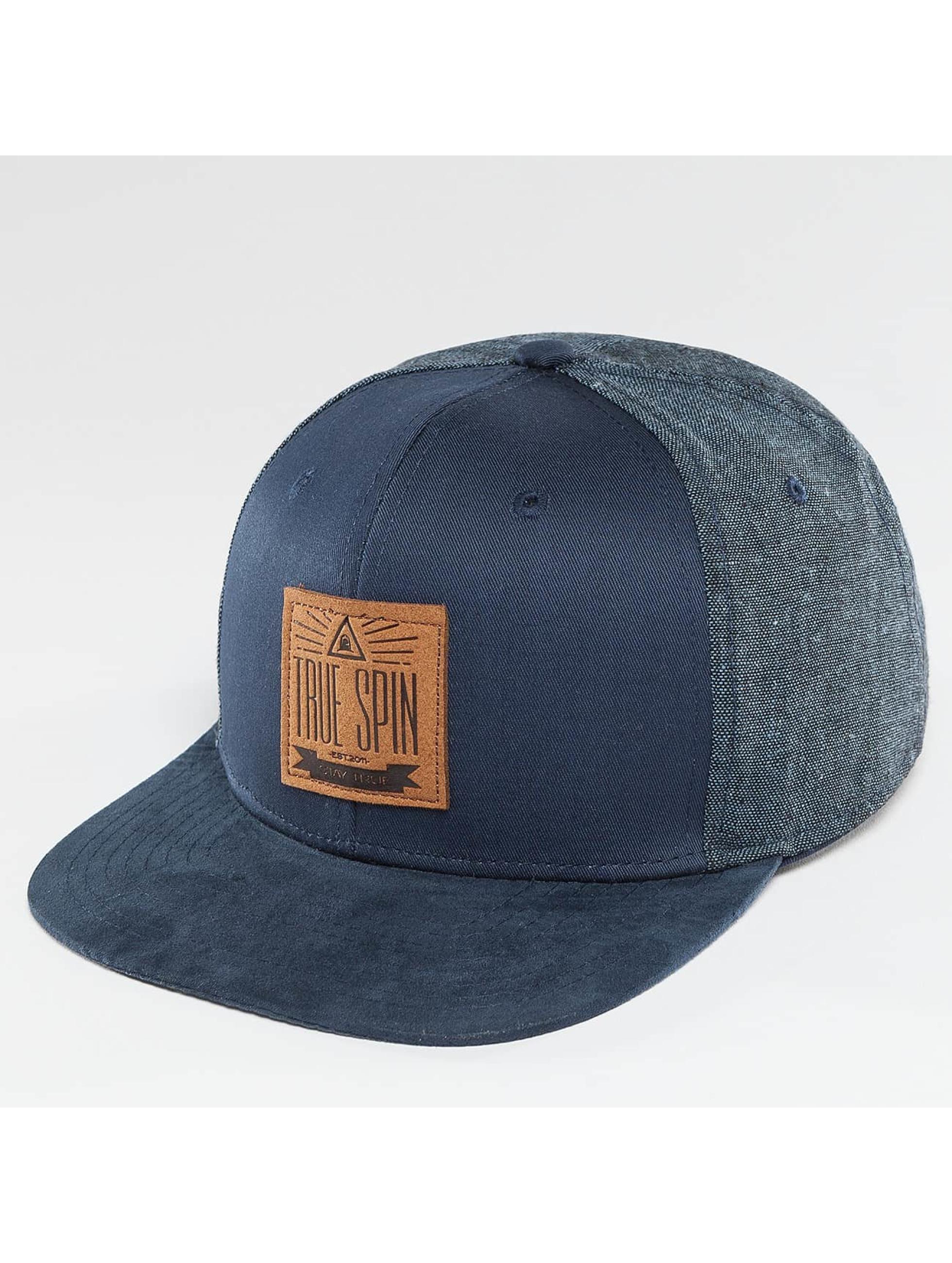 TrueSpin Snapback Caps New Velevet sininen