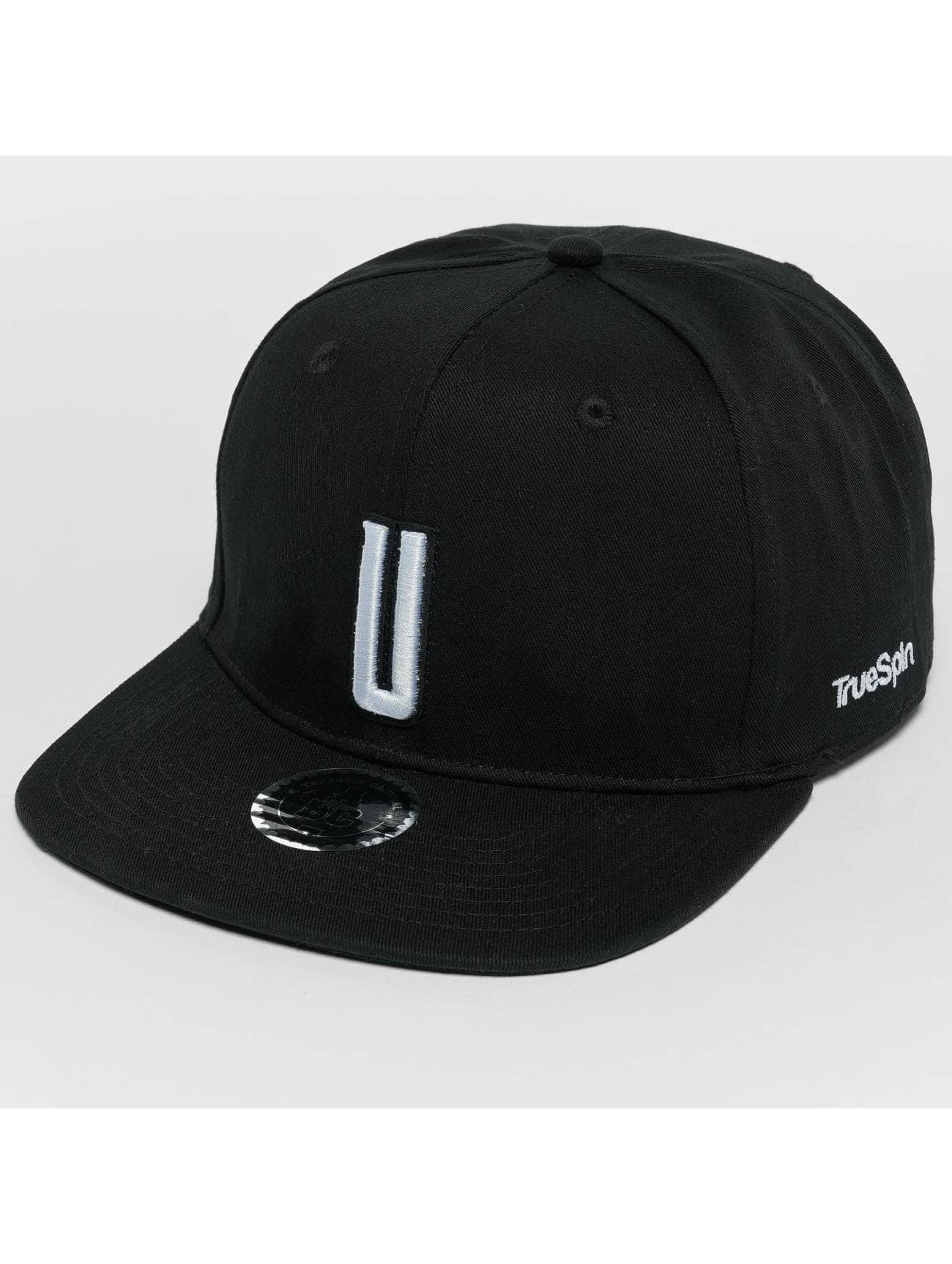 TrueSpin Snapback Caps ABC U svart
