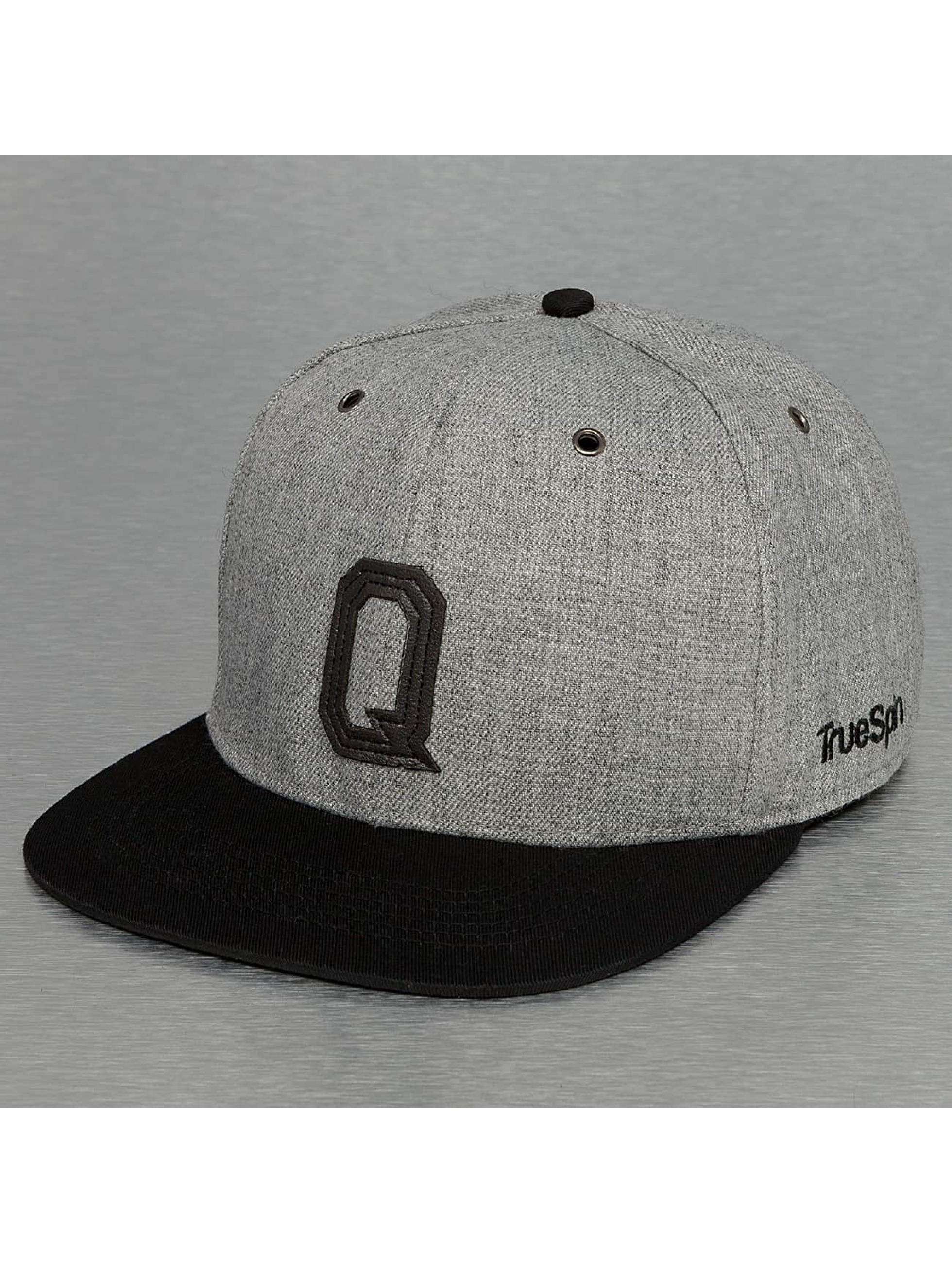 TrueSpin Snapback Caps ABC-Q Wool szary