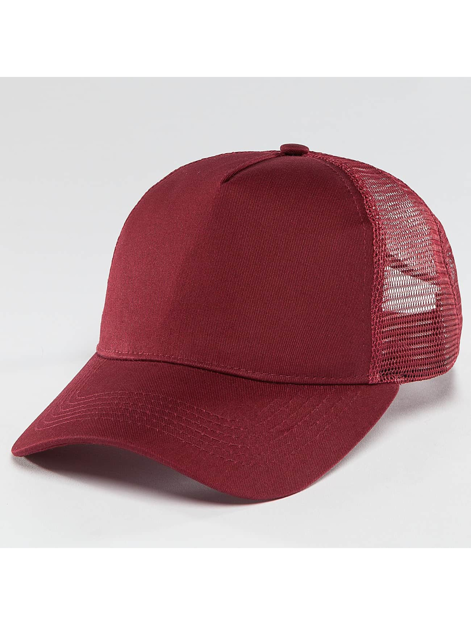 TrueSpin Trucker Caps Blank Round Visor rød