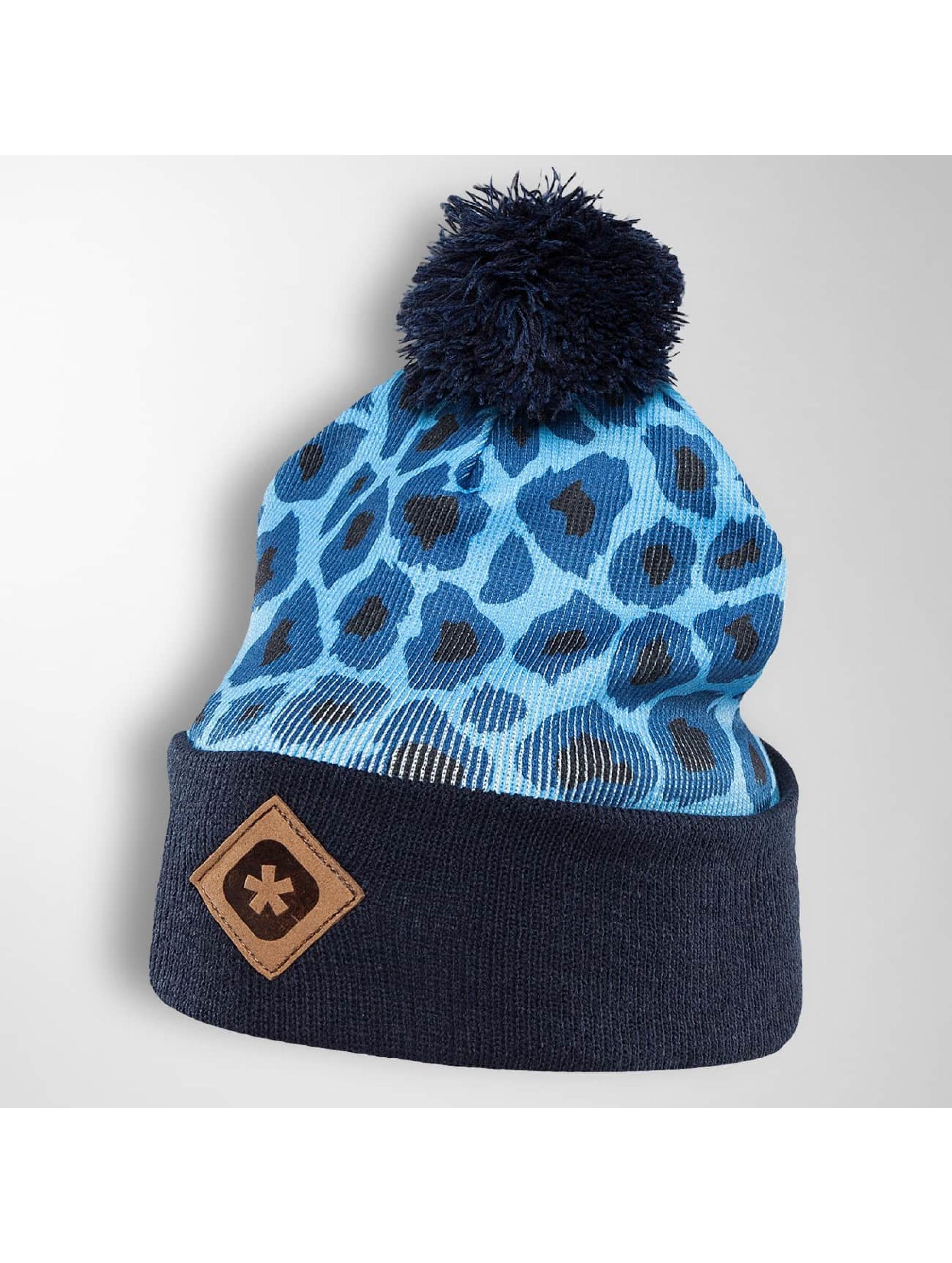 TrueSpin Winter Bonnet Cheetah blue