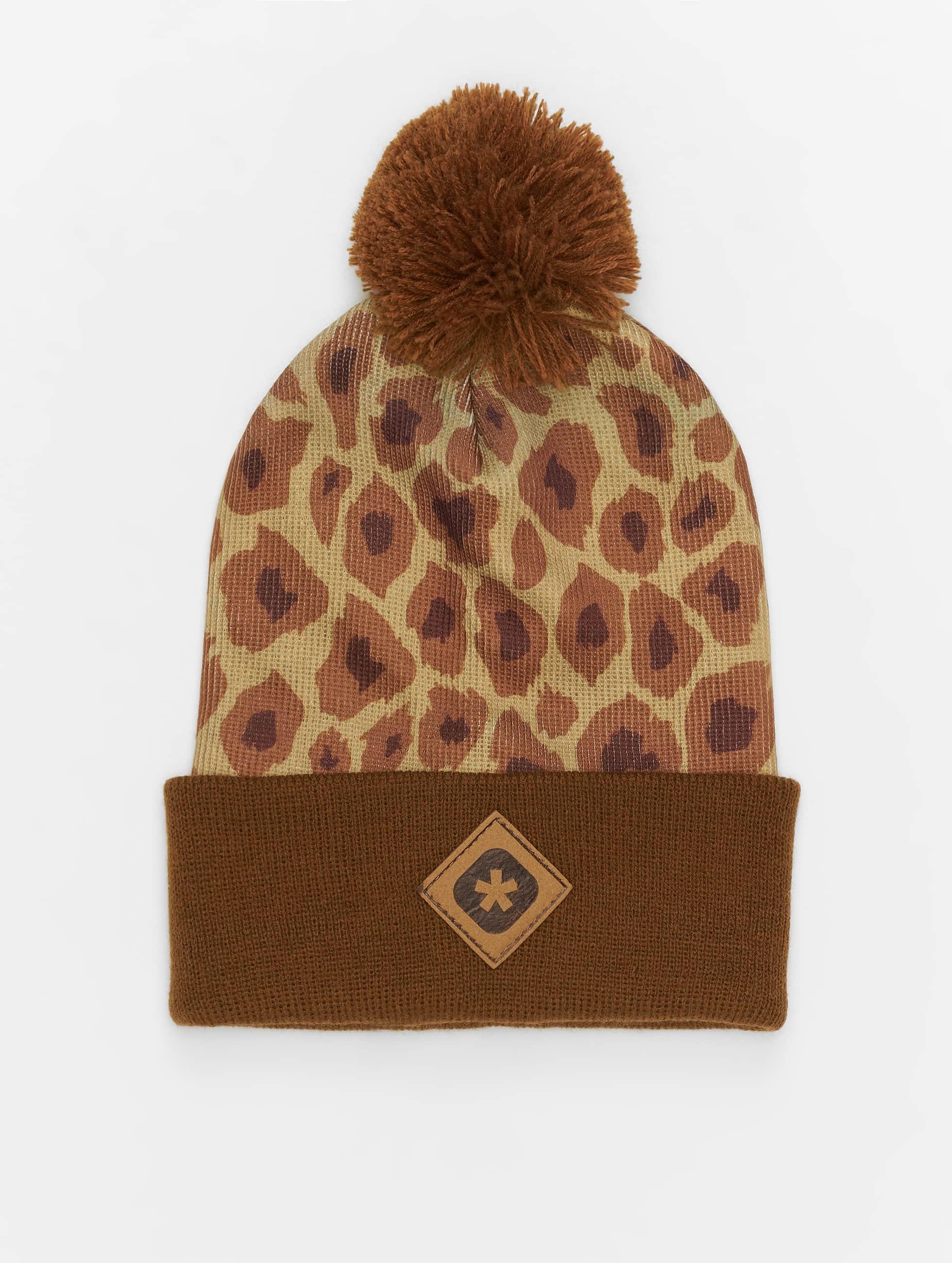 TrueSpin Winter Bonnet Cheetah brown