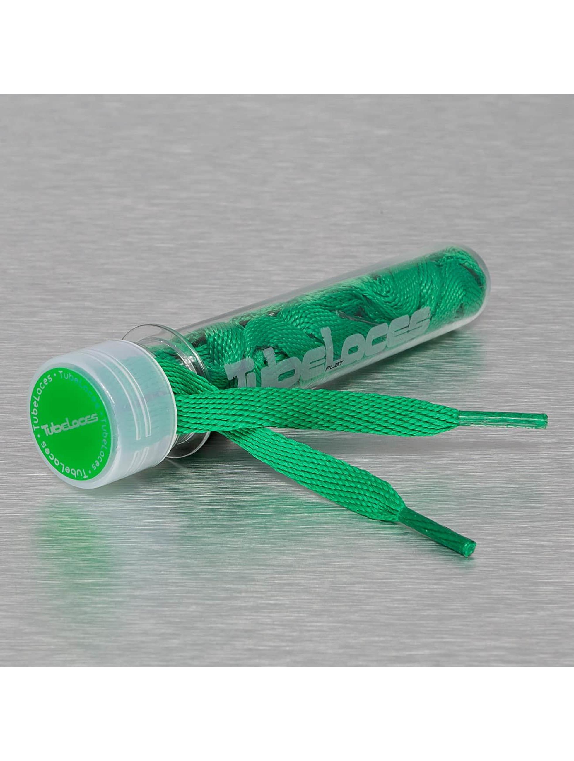 Tubelaces шнурки Flat Laces 120cm зеленый