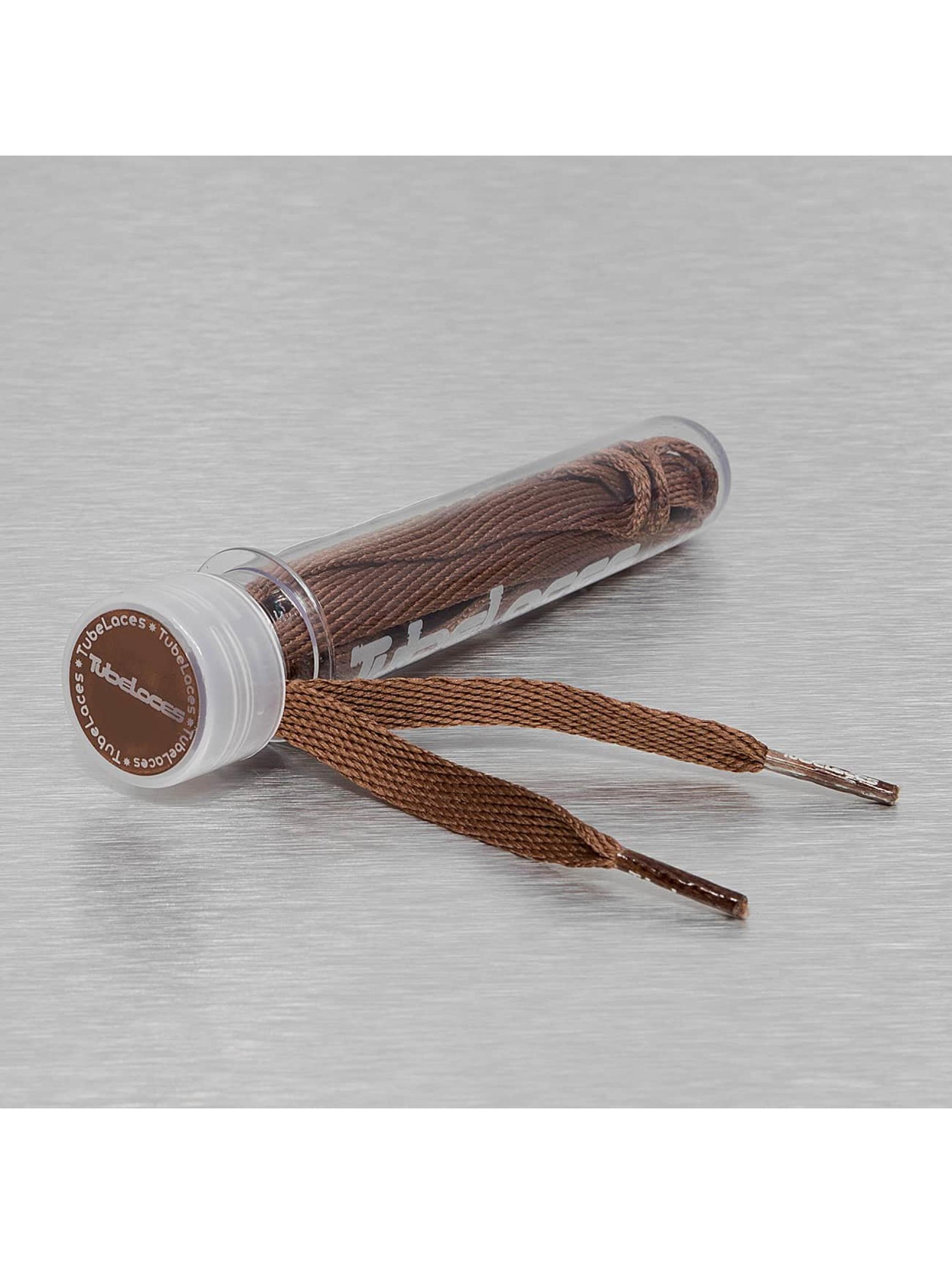 Tubelaces шнурки Flat Laces 90cm коричневый