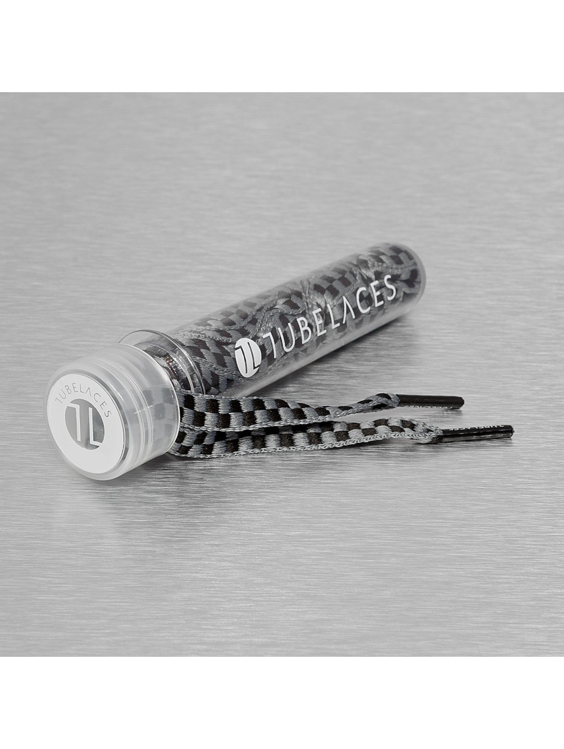 Tubelaces шнурки Whute Flat Lux серый