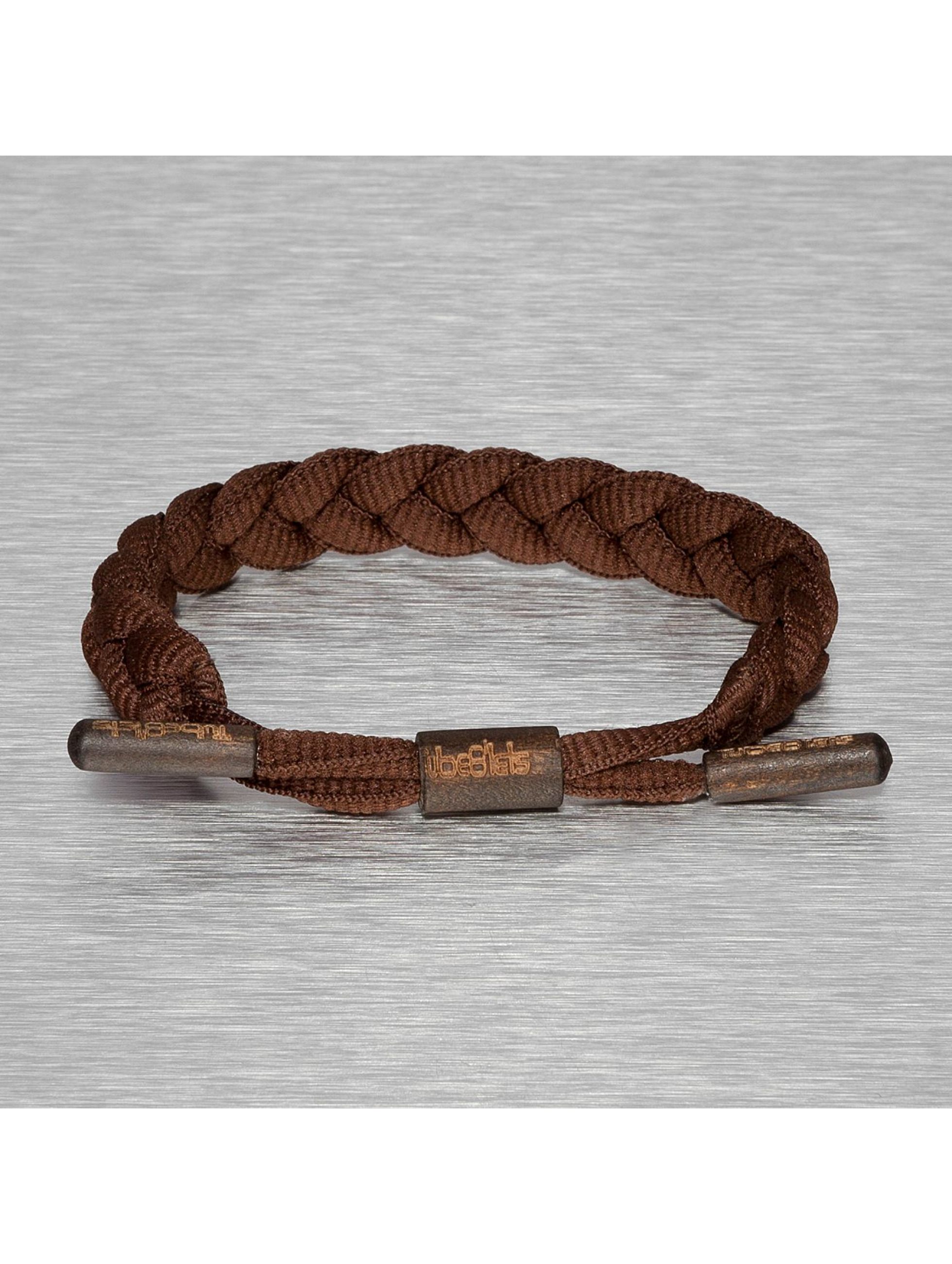 Tubelaces armband TubeBlet bruin