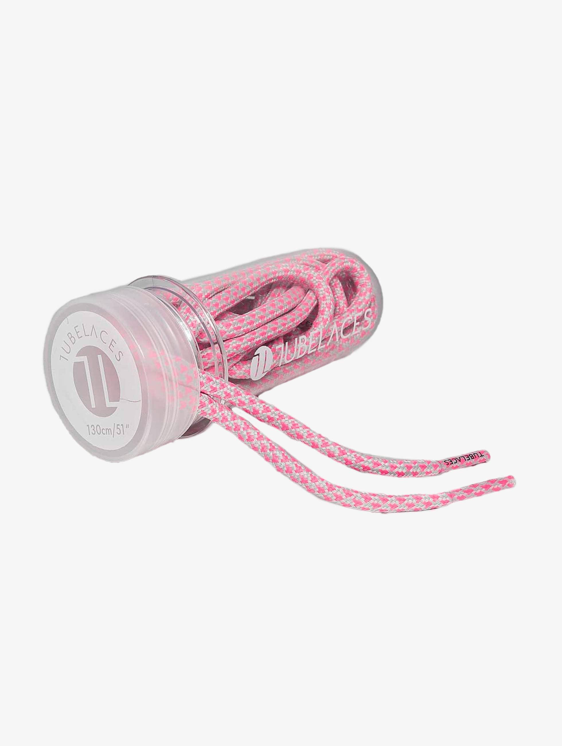 Tubelaces Kengännauha Rope Multi vaaleanpunainen