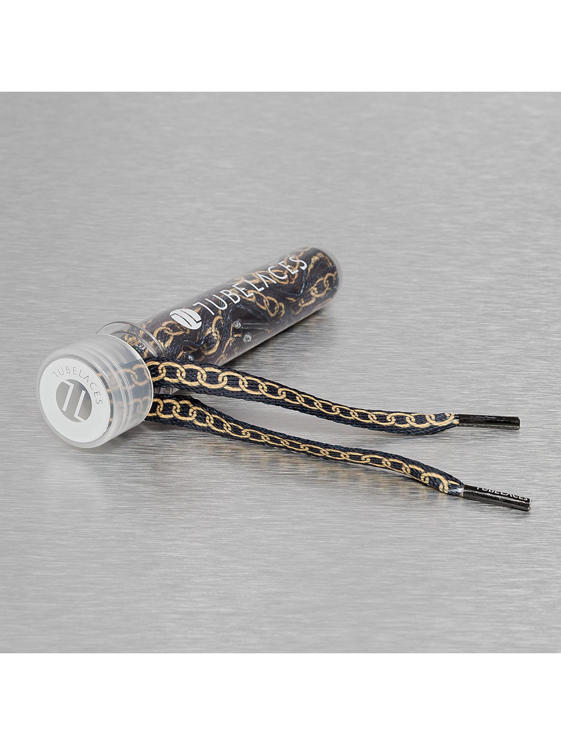 Tubelaces Lacet White Flat Lux noir