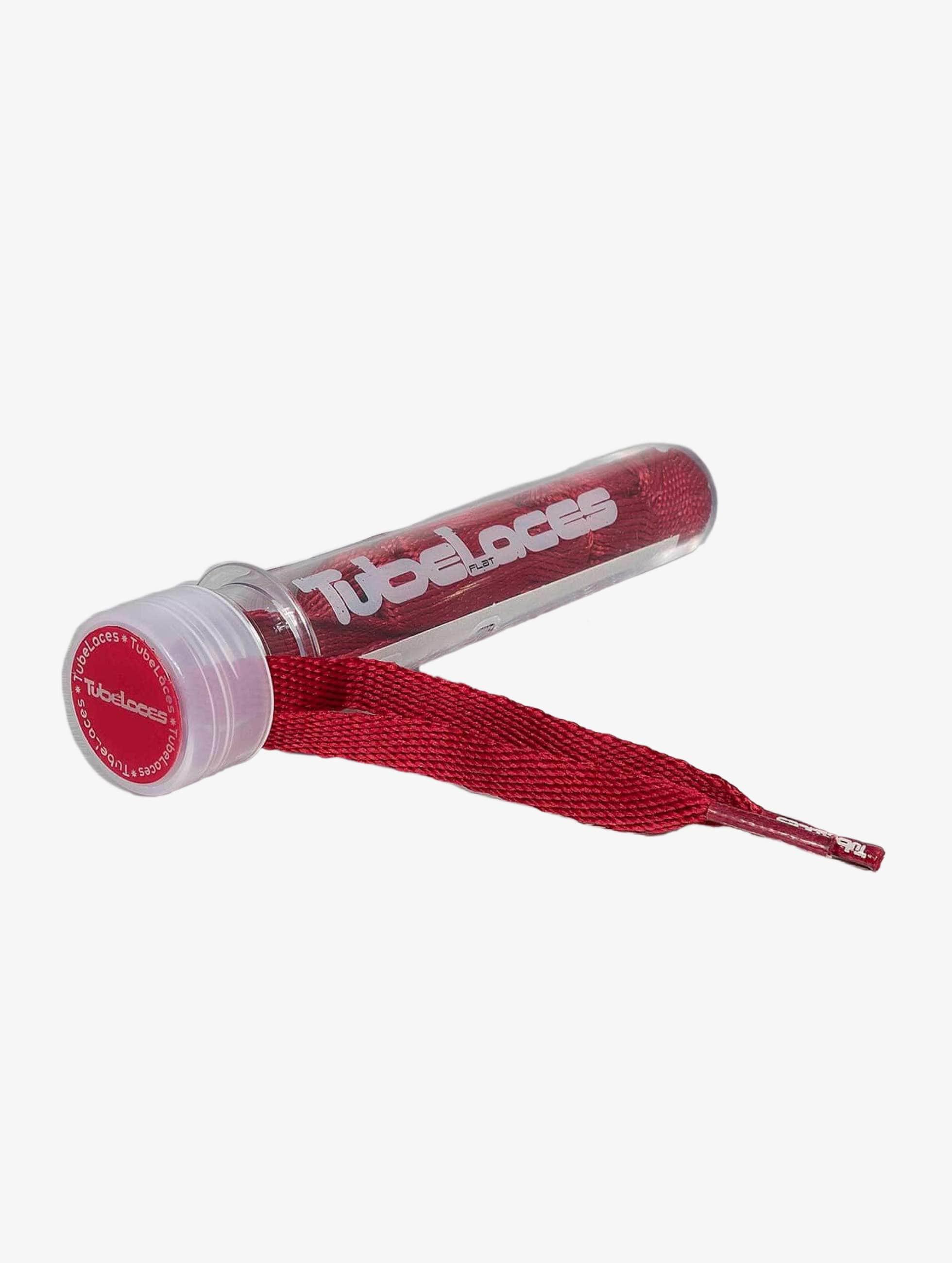 Tubelaces Lacet Flat rouge