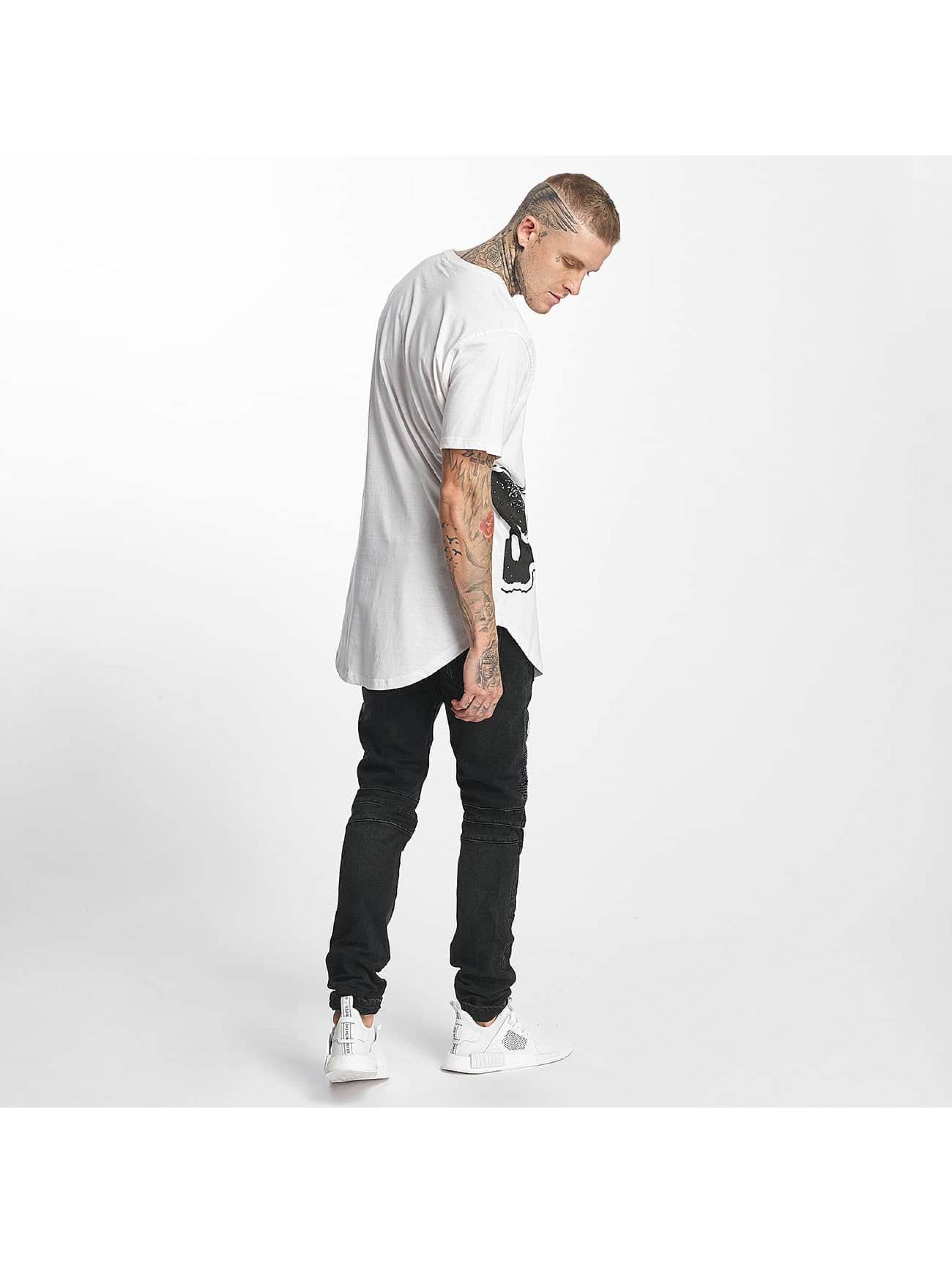 Tuffskull T-Shirt BIGSKULL Long white