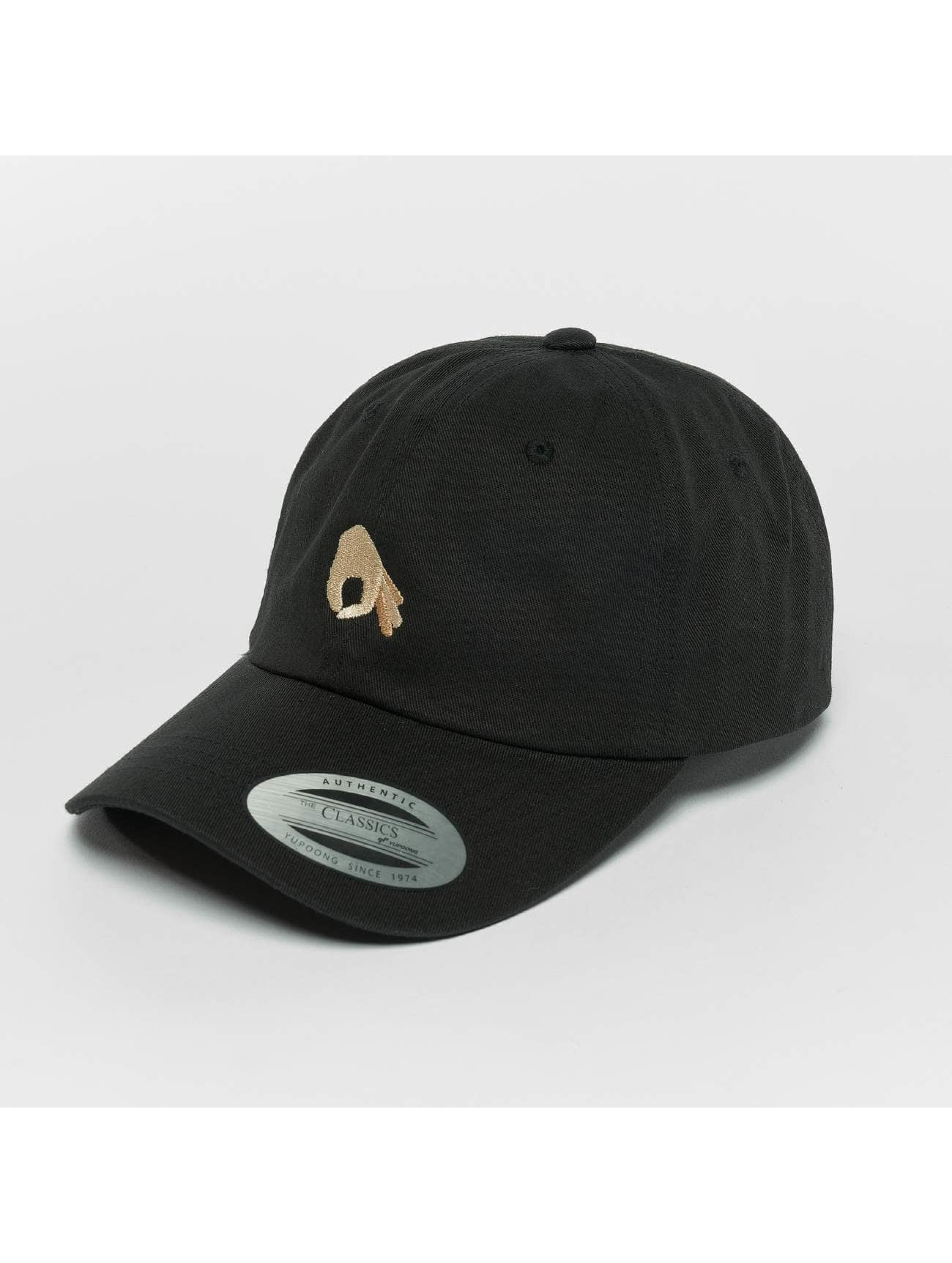 TurnUP Snapback Caps Neigschaut svart
