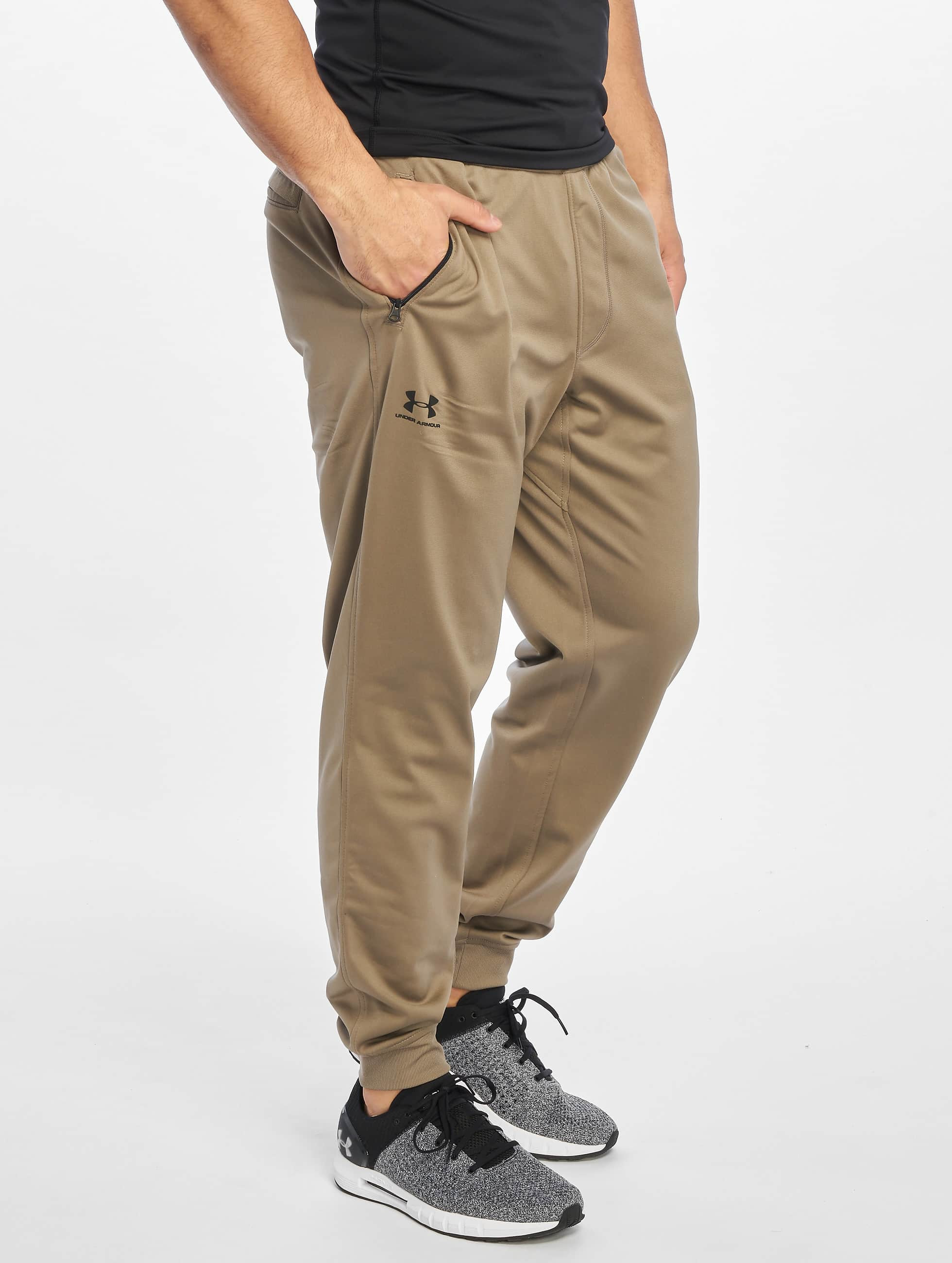 Jogging Pantalons Brun Tricot Under ArmourSportstyle 646464
