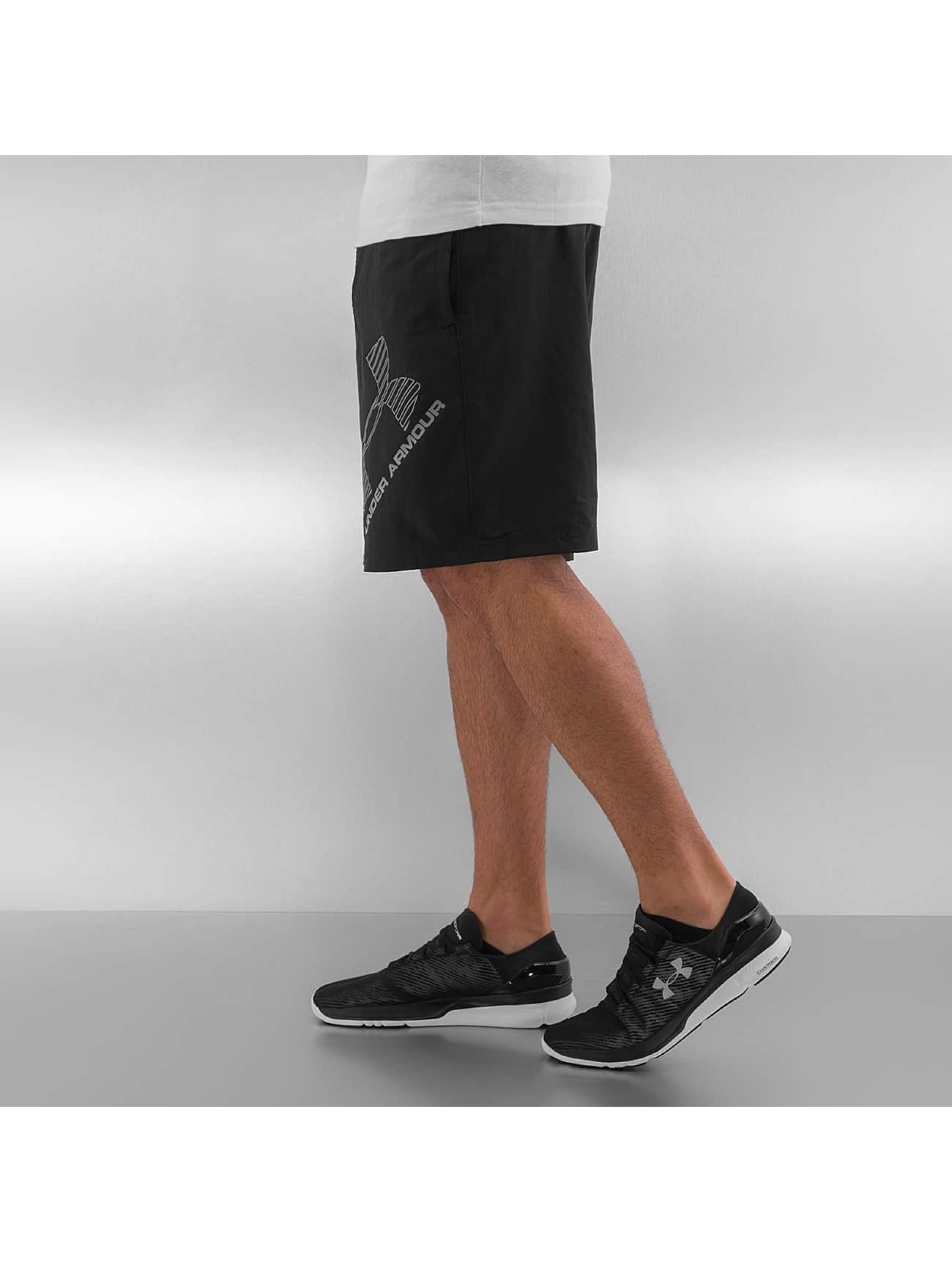 Under Armour shorts Heatgear Woven Graphic zwart