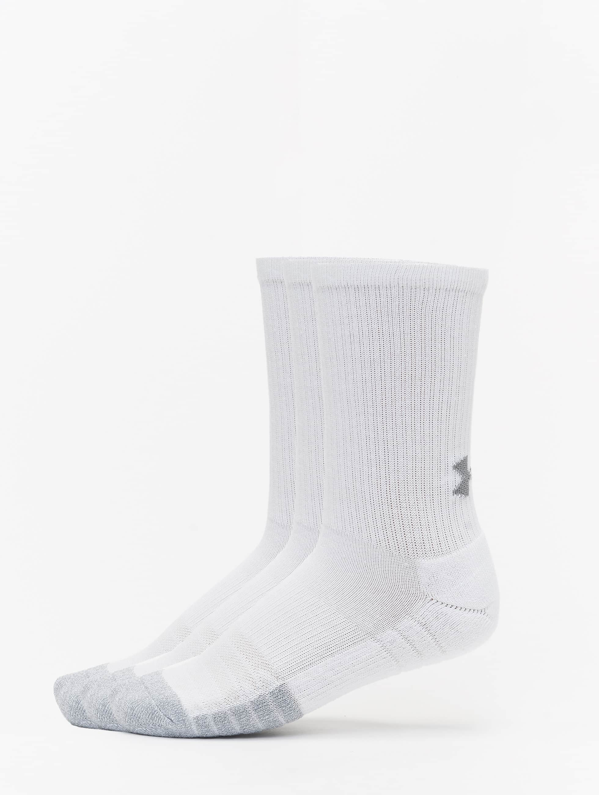 Under Armour HEATGEAR 3 PACK - Ankelsockor - steel/white/black