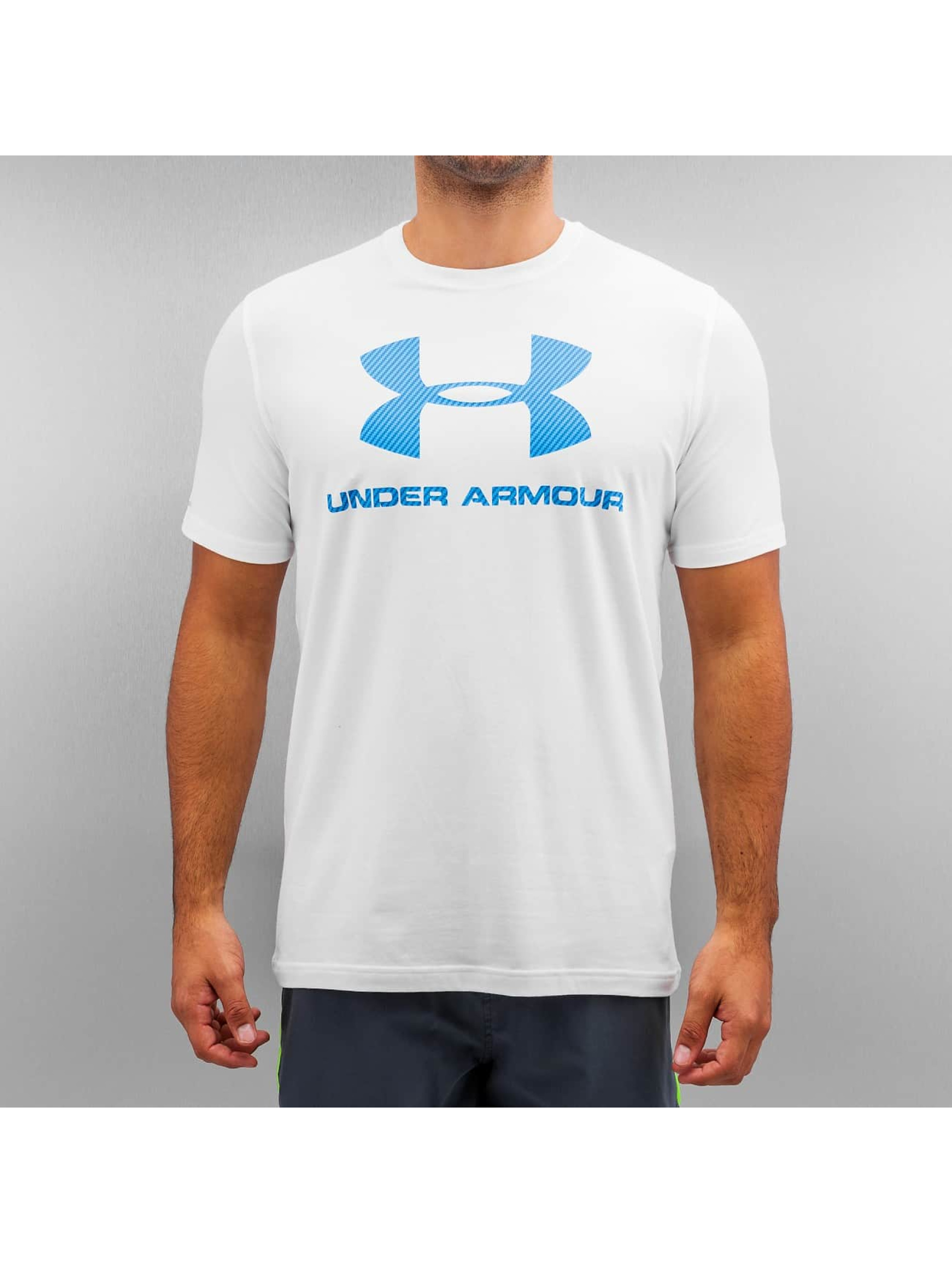 Under Armour T-Shirt Charged Cotton Sportstyle Logo blanc