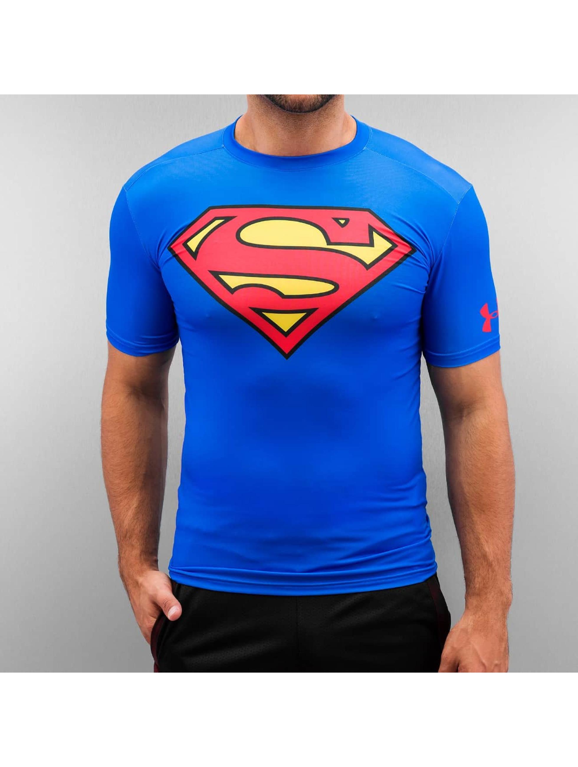 Under Armour t-shirt Alter Ego Superman Compression blauw