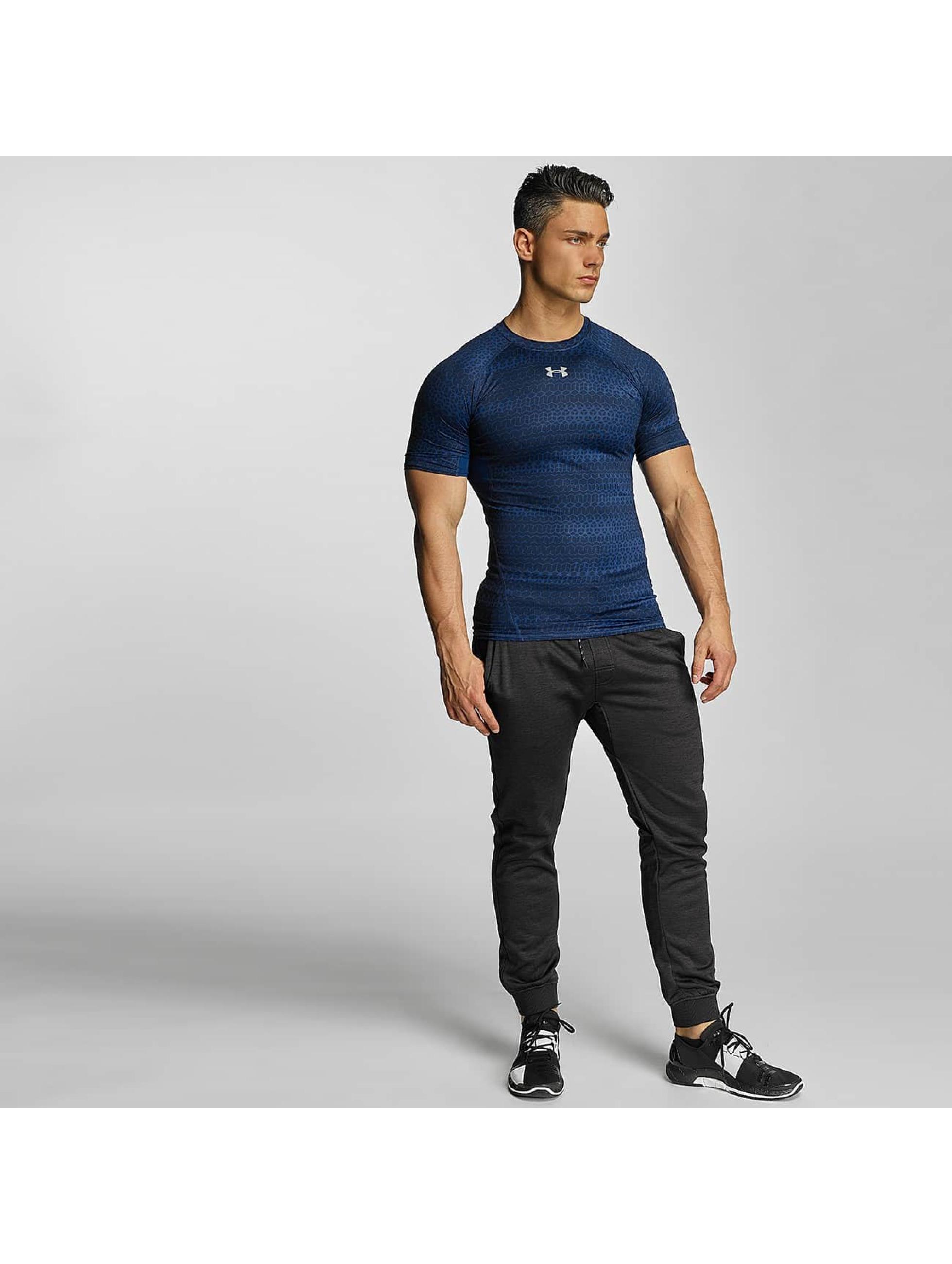 Under Armour T-Shirt Heatgear Printed Shortsleeve Compression blue