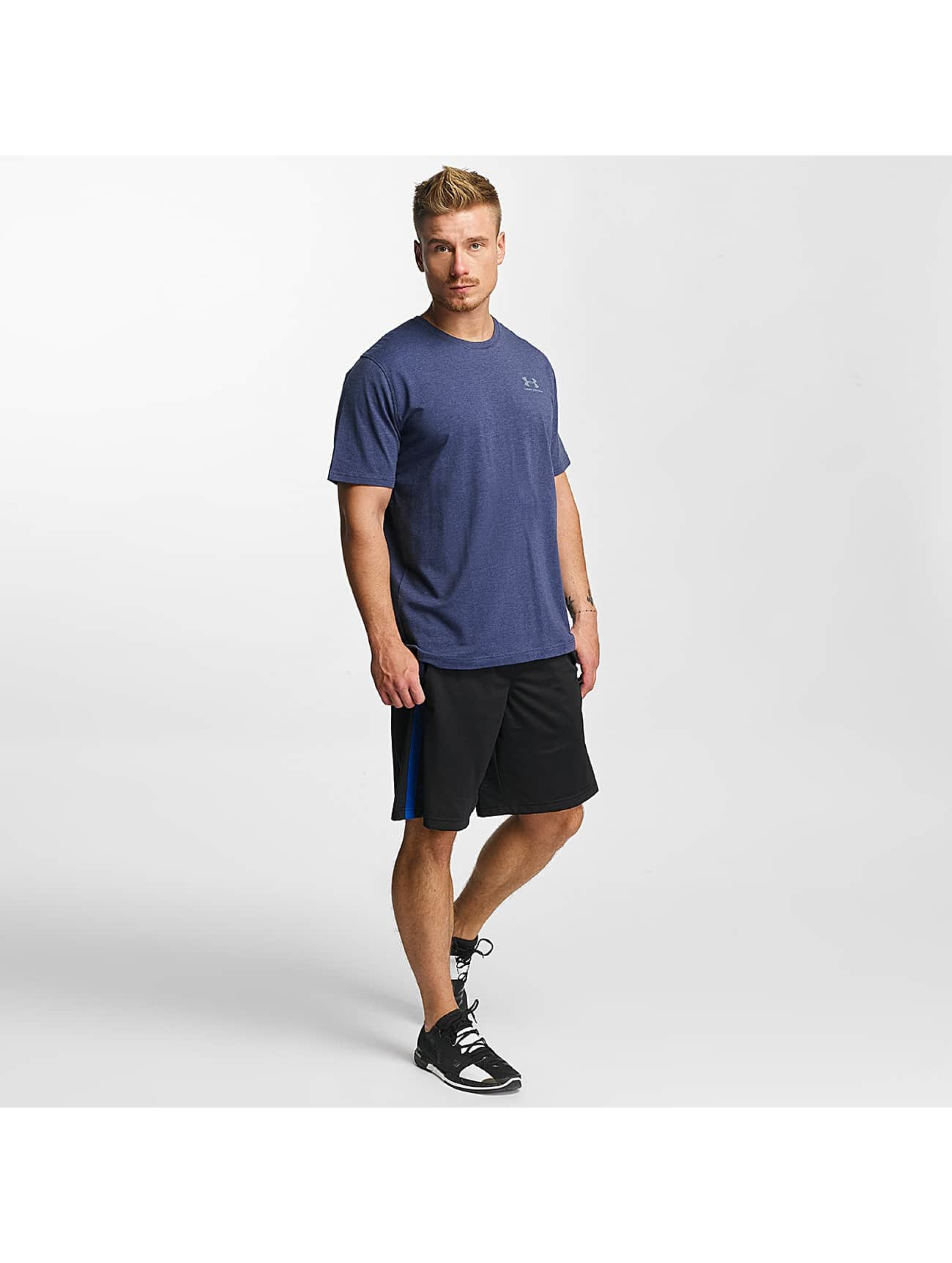 Under Armour T-Shirt Charged Cotton Left Chest Lockup blue
