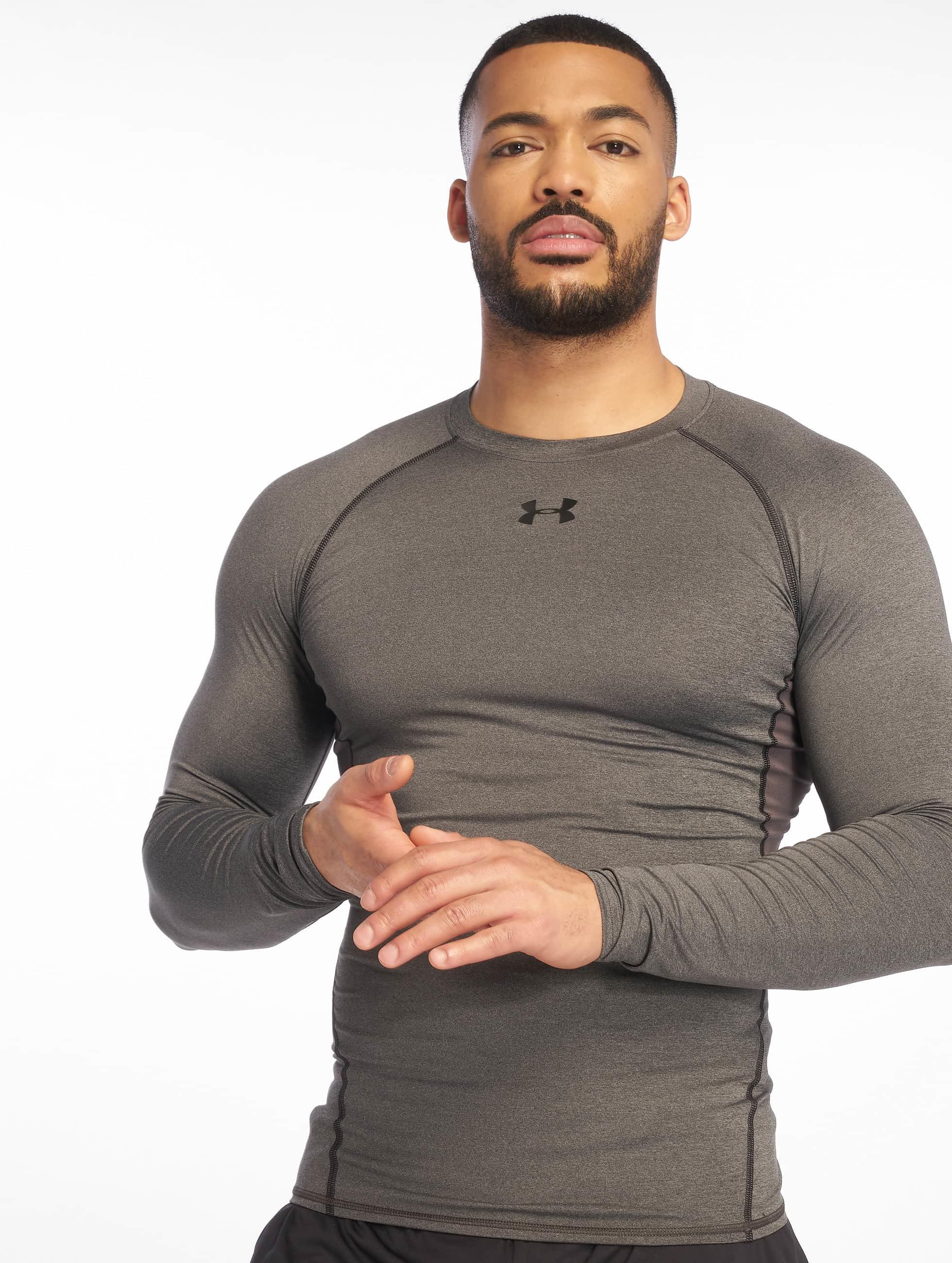 Under Armour T-Shirt manches longues Heatgear Compression gris