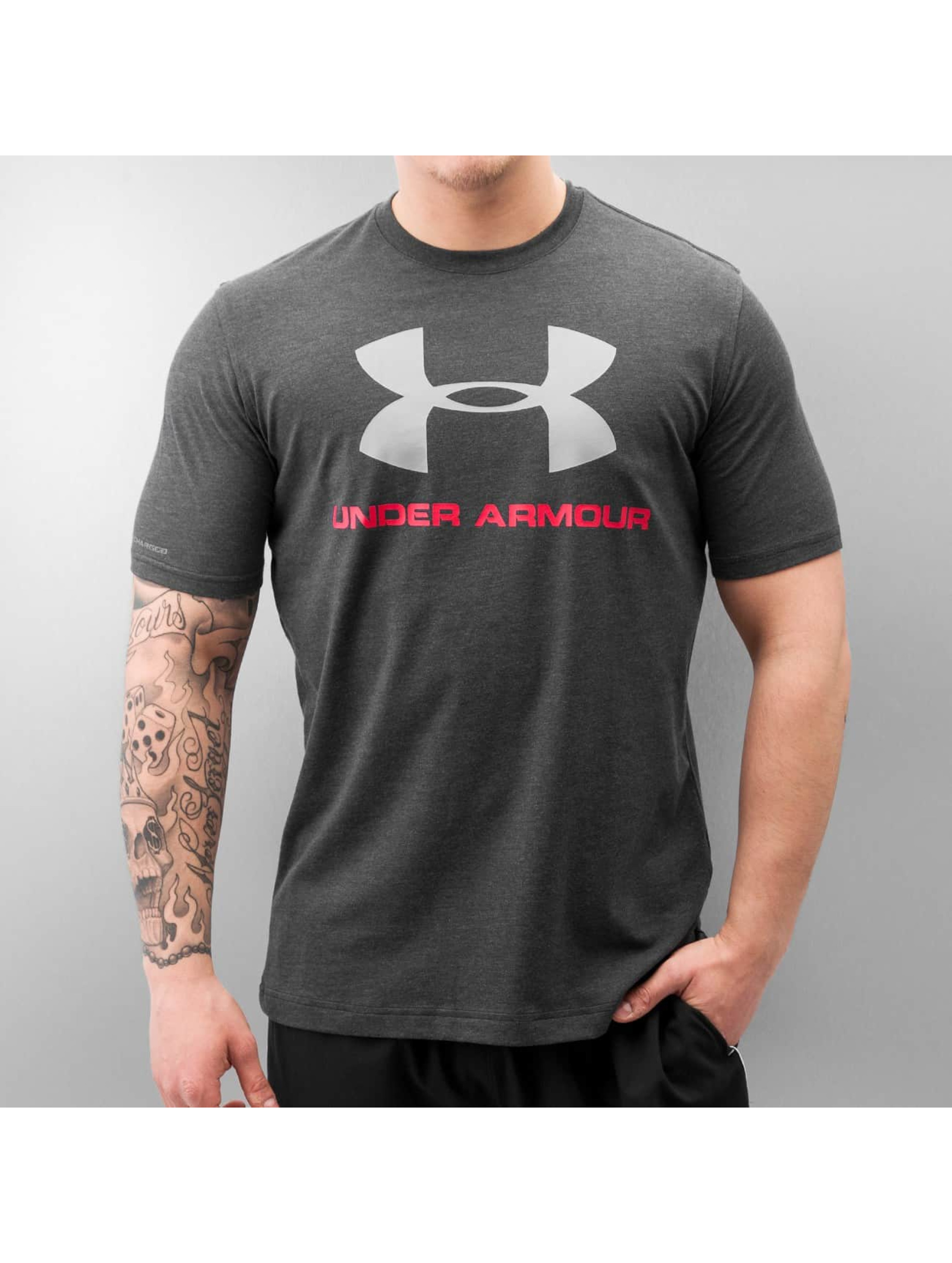 Under Armour T-Shirt Charged Cotton Sportstyle Logo schwarz