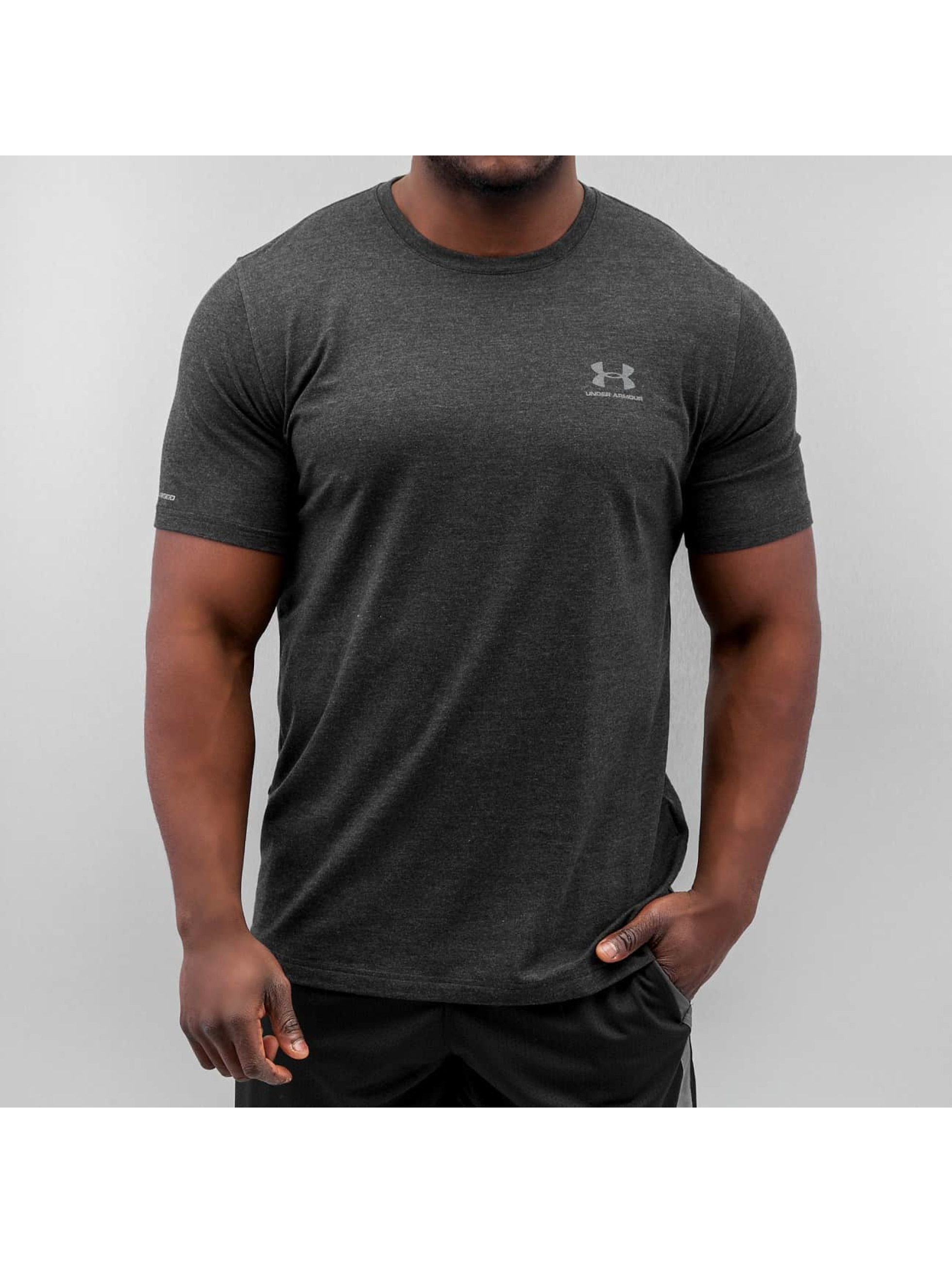 Under Armour T-Shirt Charged Cotton Left Chest Lockup schwarz