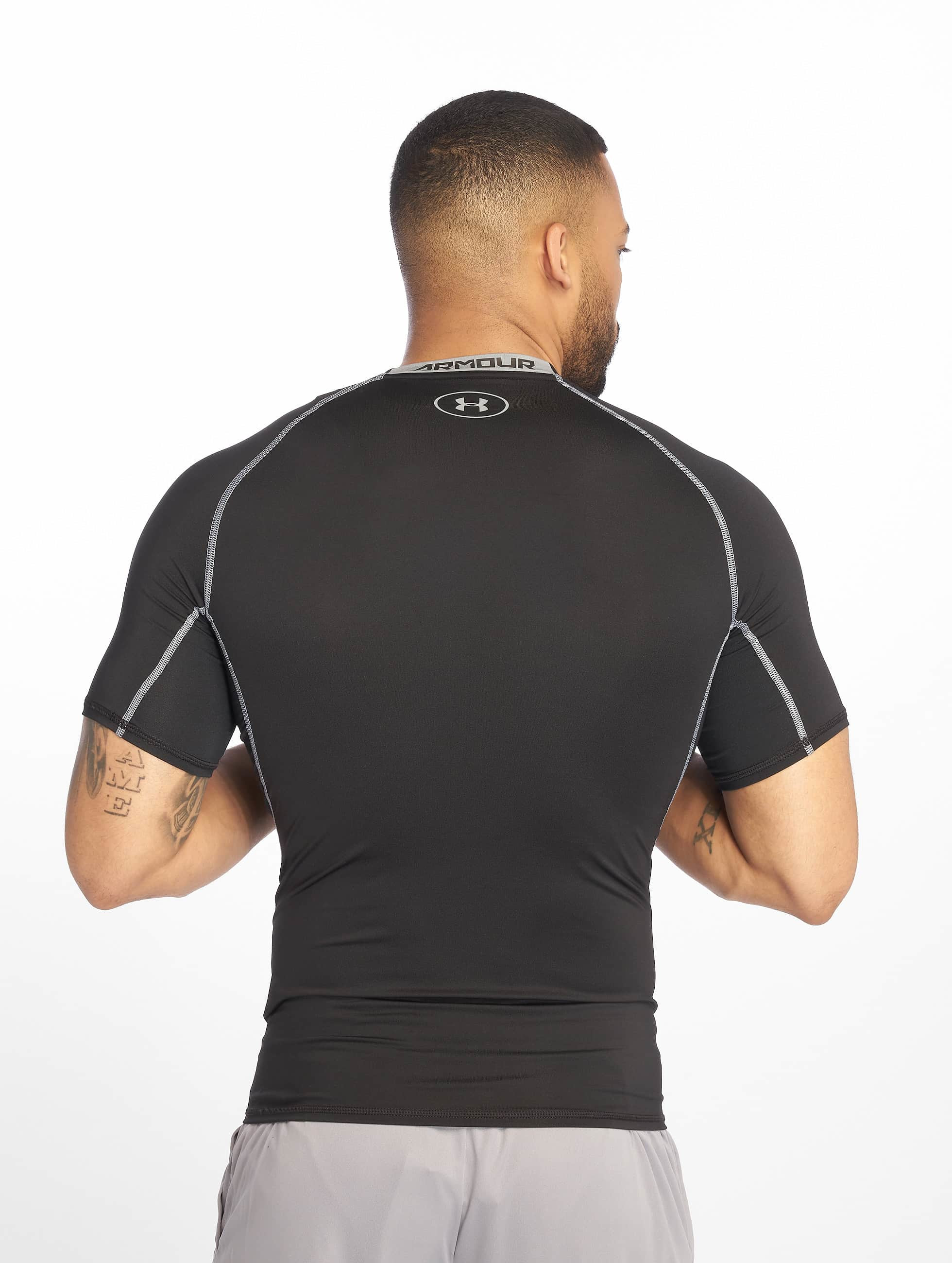 Under Armour t-shirt Heatgear Compression zwart