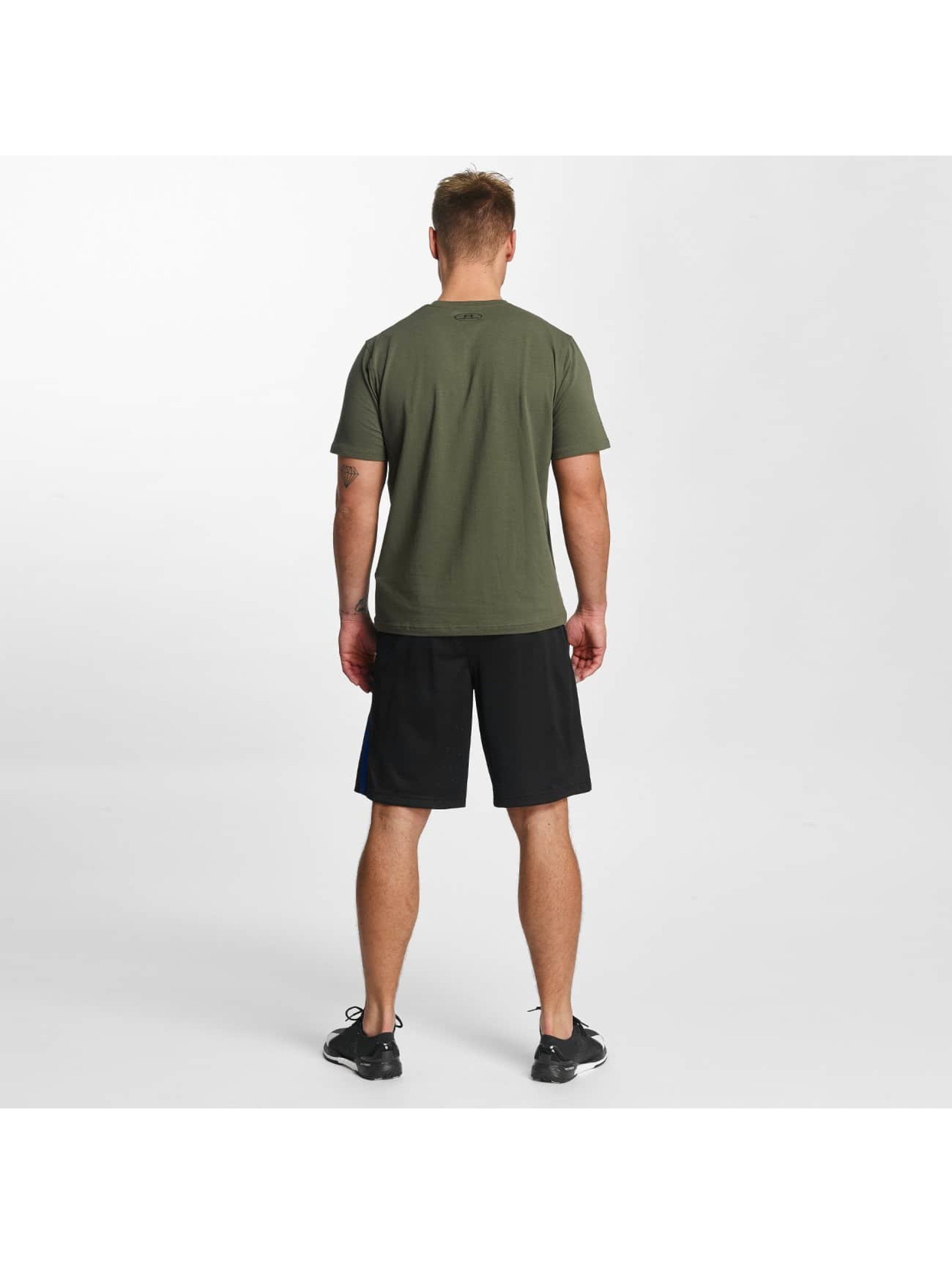 Under Armour T-Shirty Woodmark Lock Up zielony