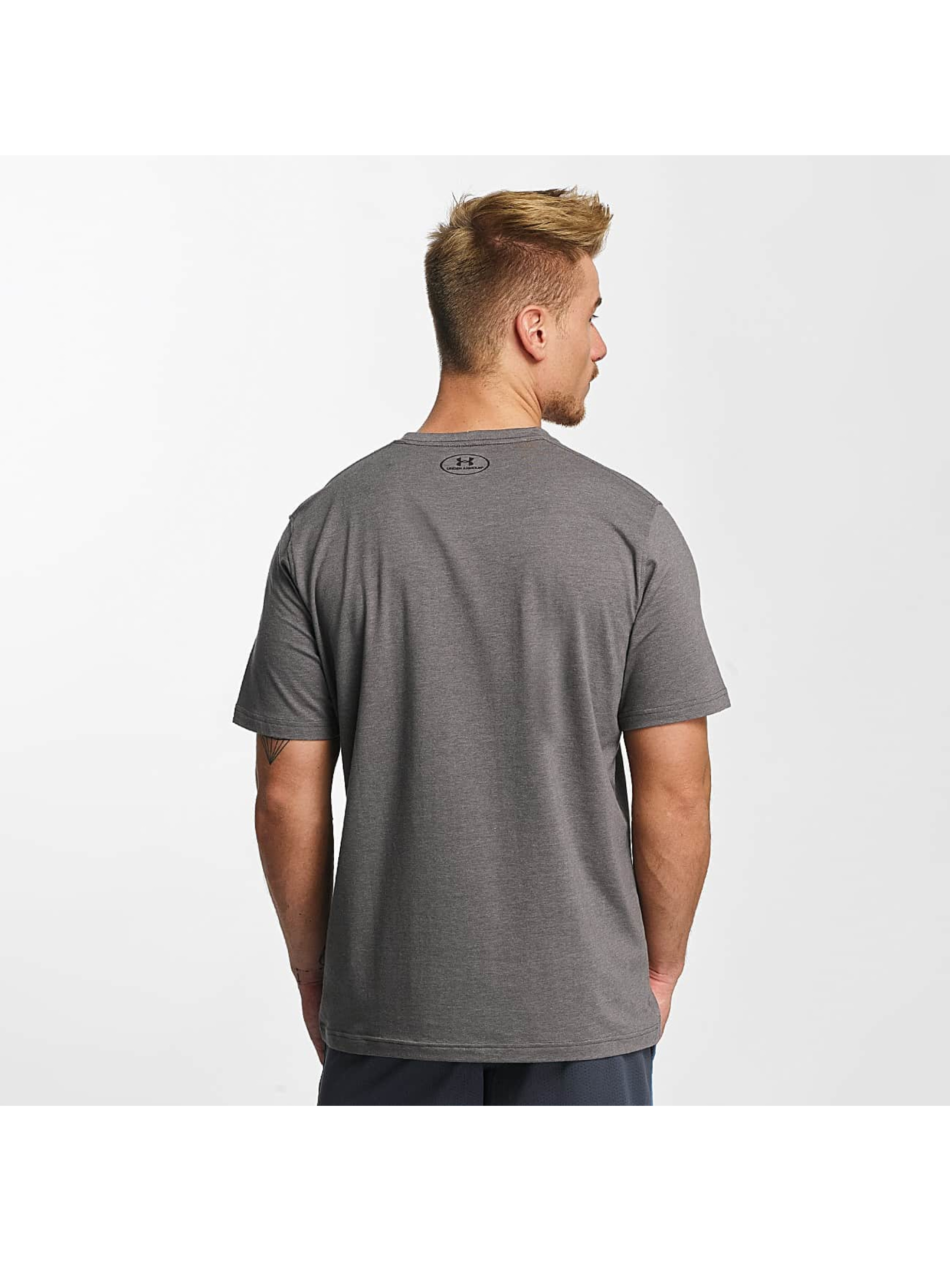 Under Armour T-skjorter Charged Cotton Left Chest Lockup grå