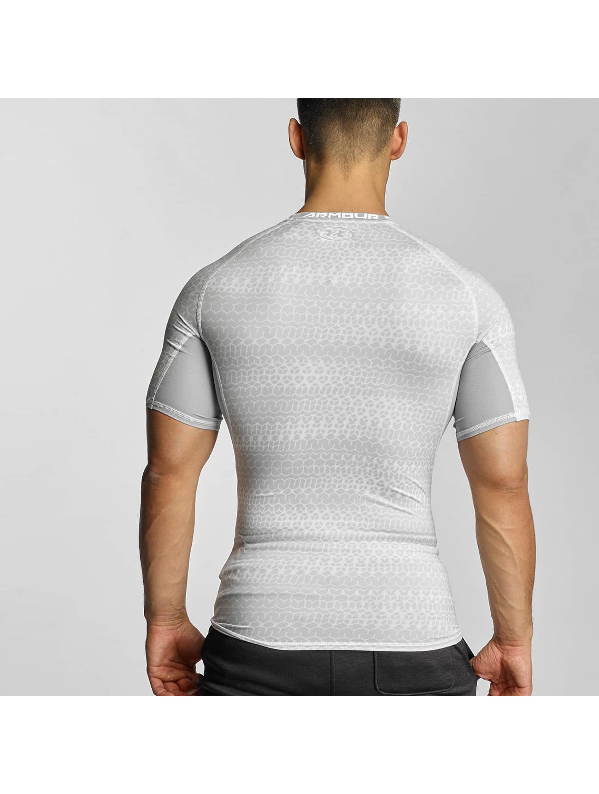 Under Armour Tričká Heatgear Printed Shortsleeve Compression biela