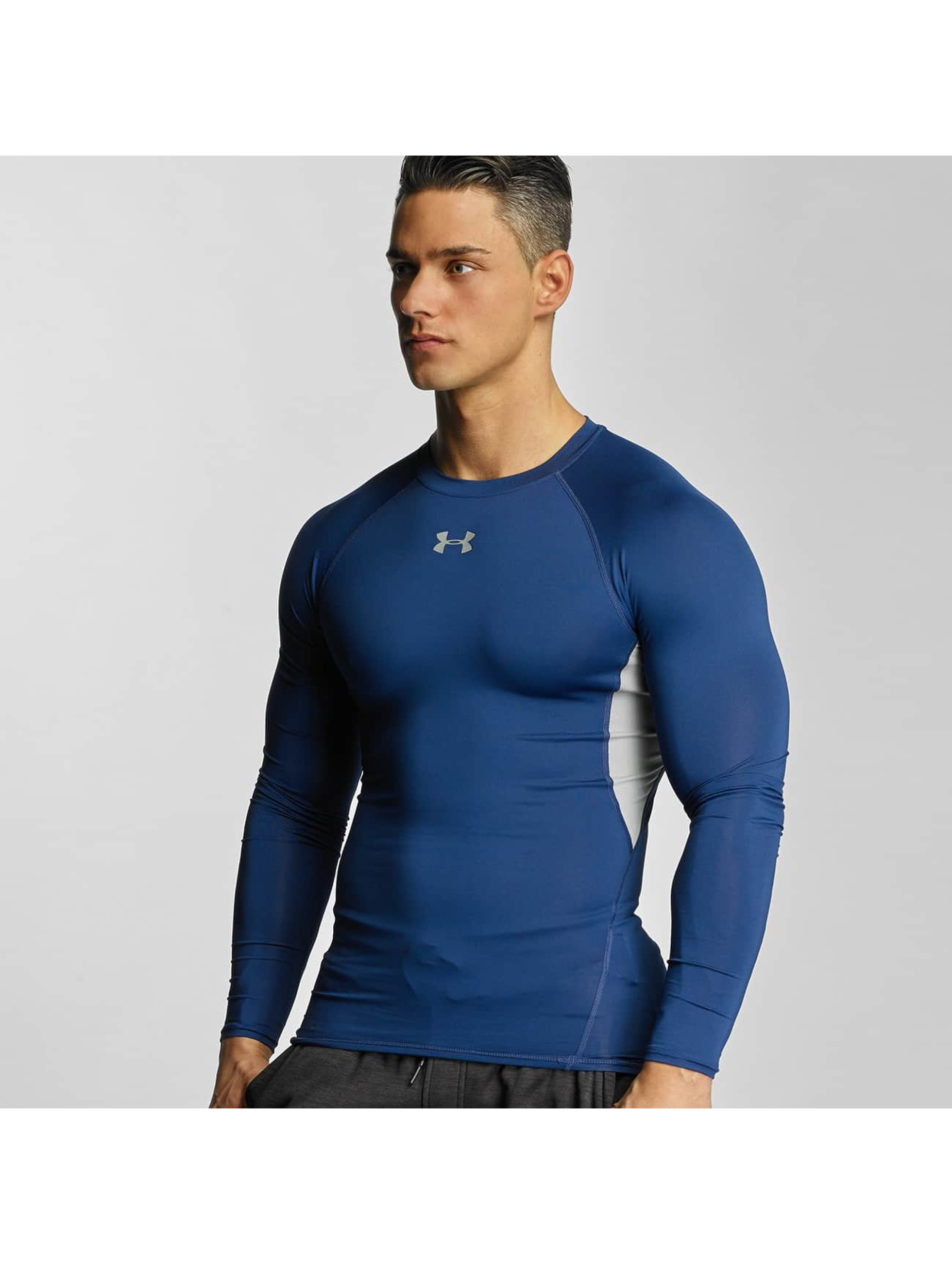 Under Armour Tričká dlhý rukáv Heatgear Compression modrá
