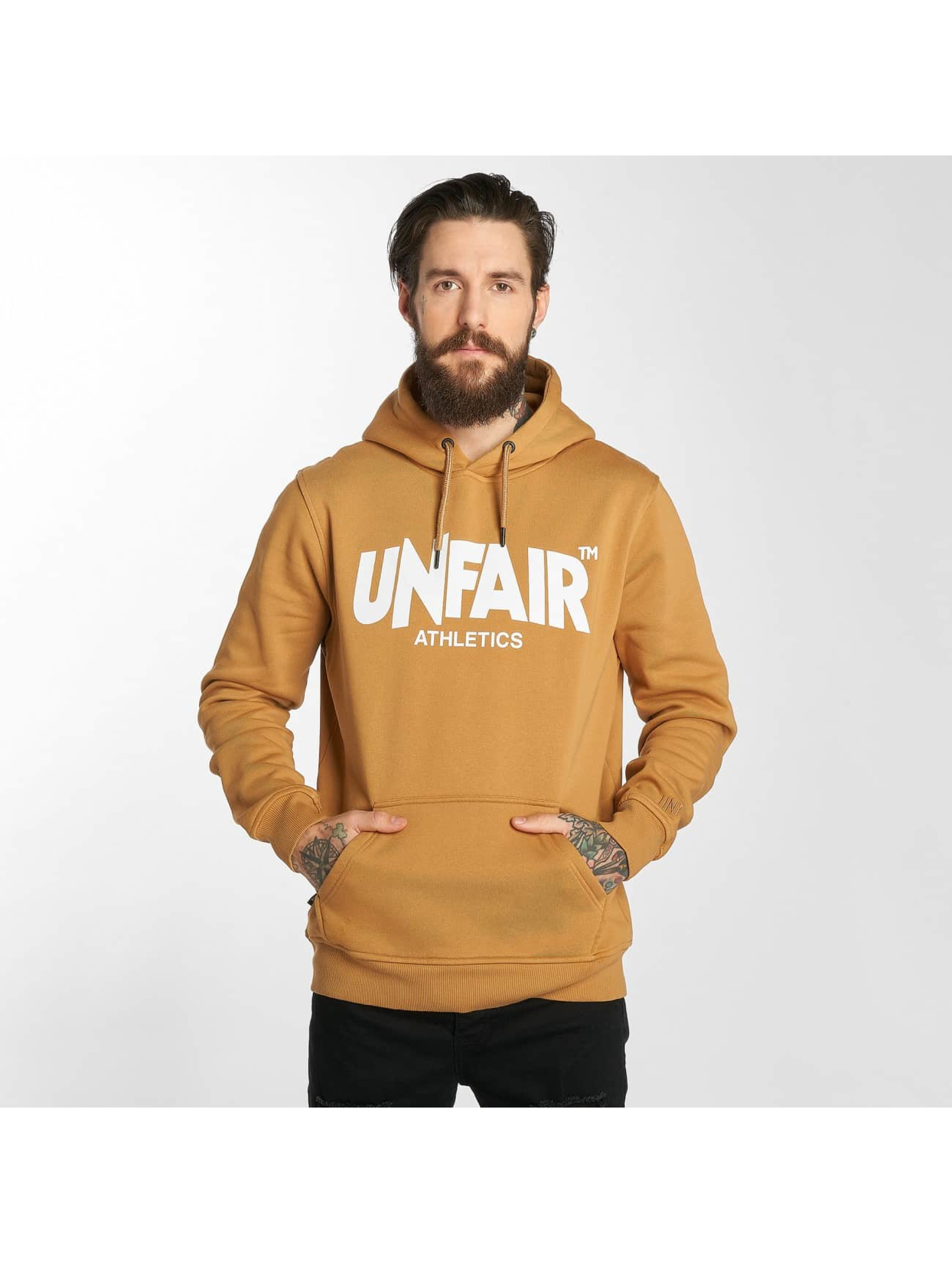 UNFAIR ATHLETICS Hoodie Classic Label brun