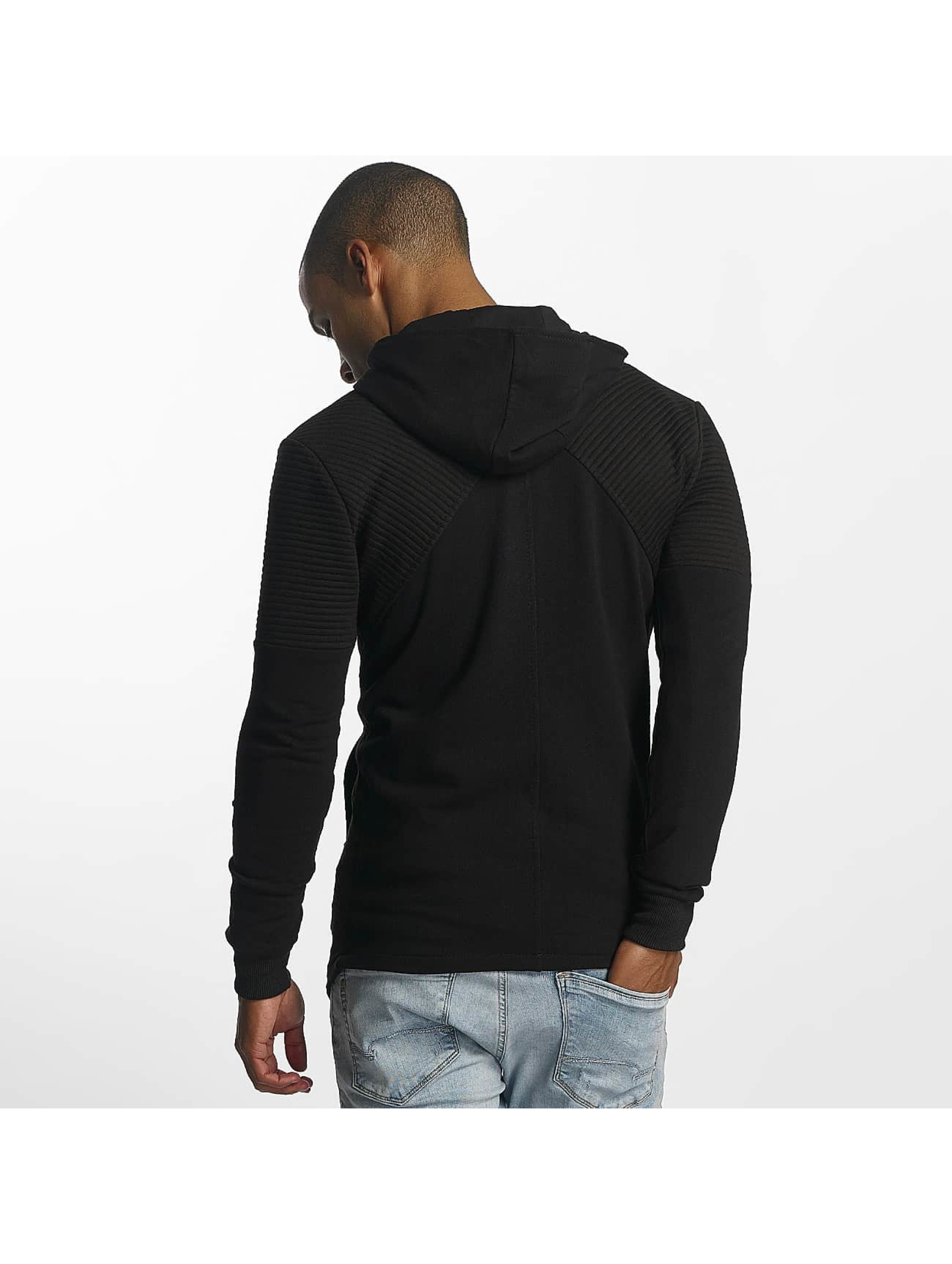Uniplay Vetoketjuhupparit Zipper musta