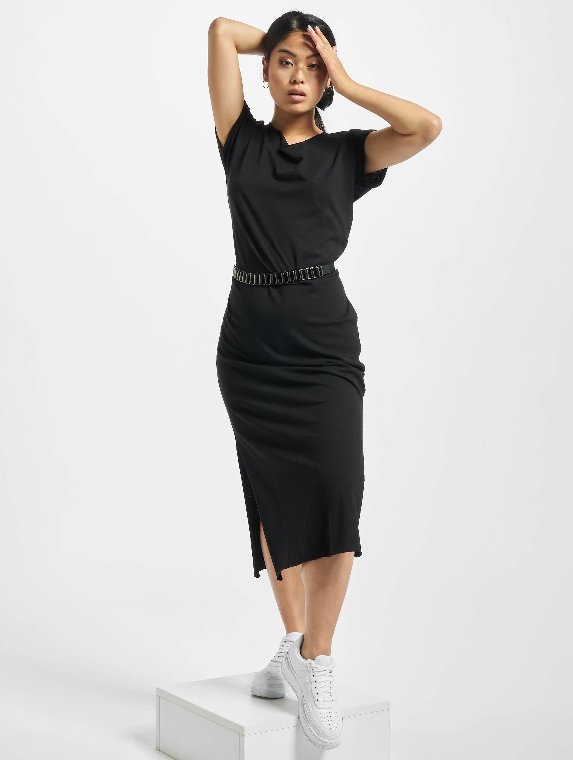 Urban Classics Šaty Ladies Slub èierna