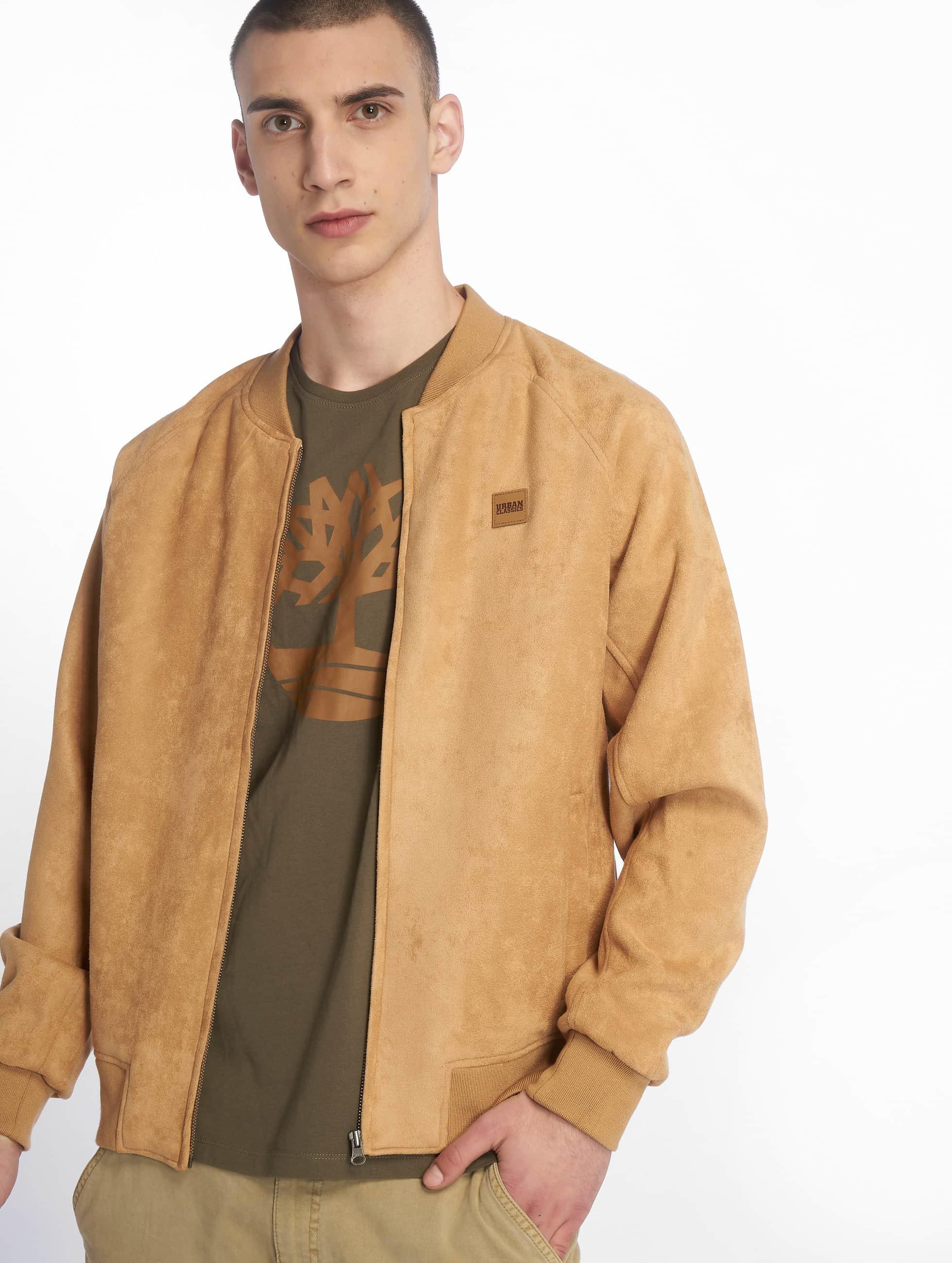 Urban Classics Демисезонная куртка Imitation Suede бежевый