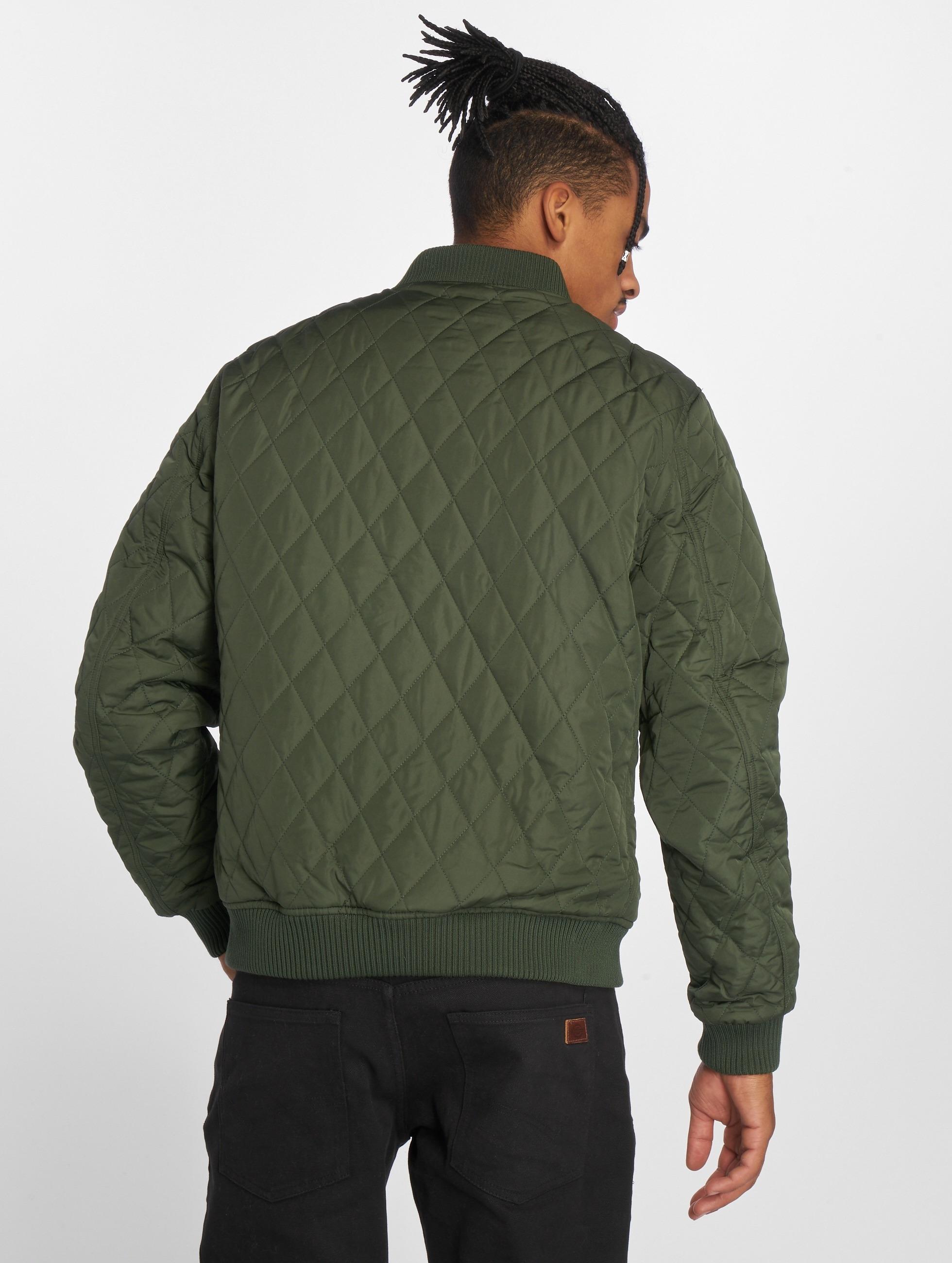 Urban Classics Демисезонная куртка Diamond Quilt Nylon оливковый