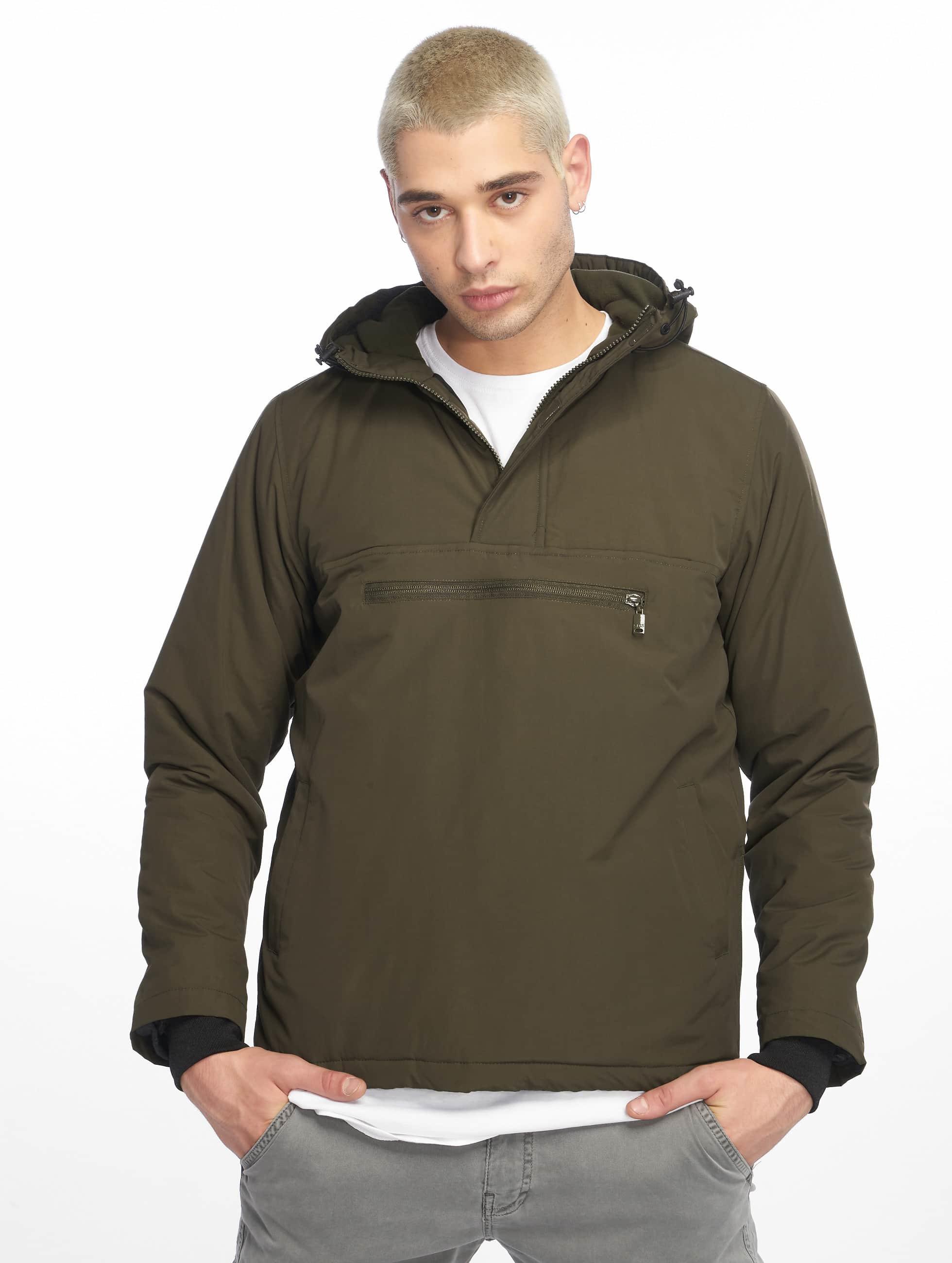 Urban Classics Демисезонная куртка Padded Pull оливковый