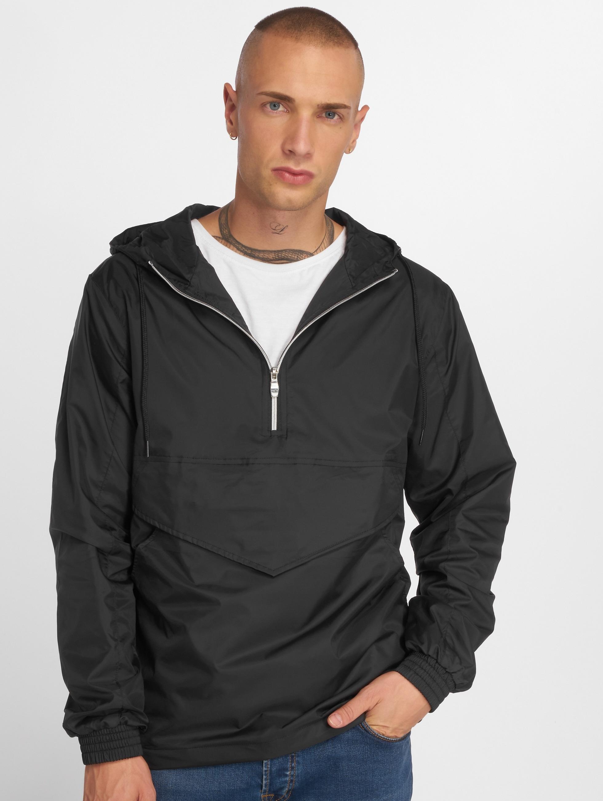 Urban Classics Демисезонная куртка Pull Over черный
