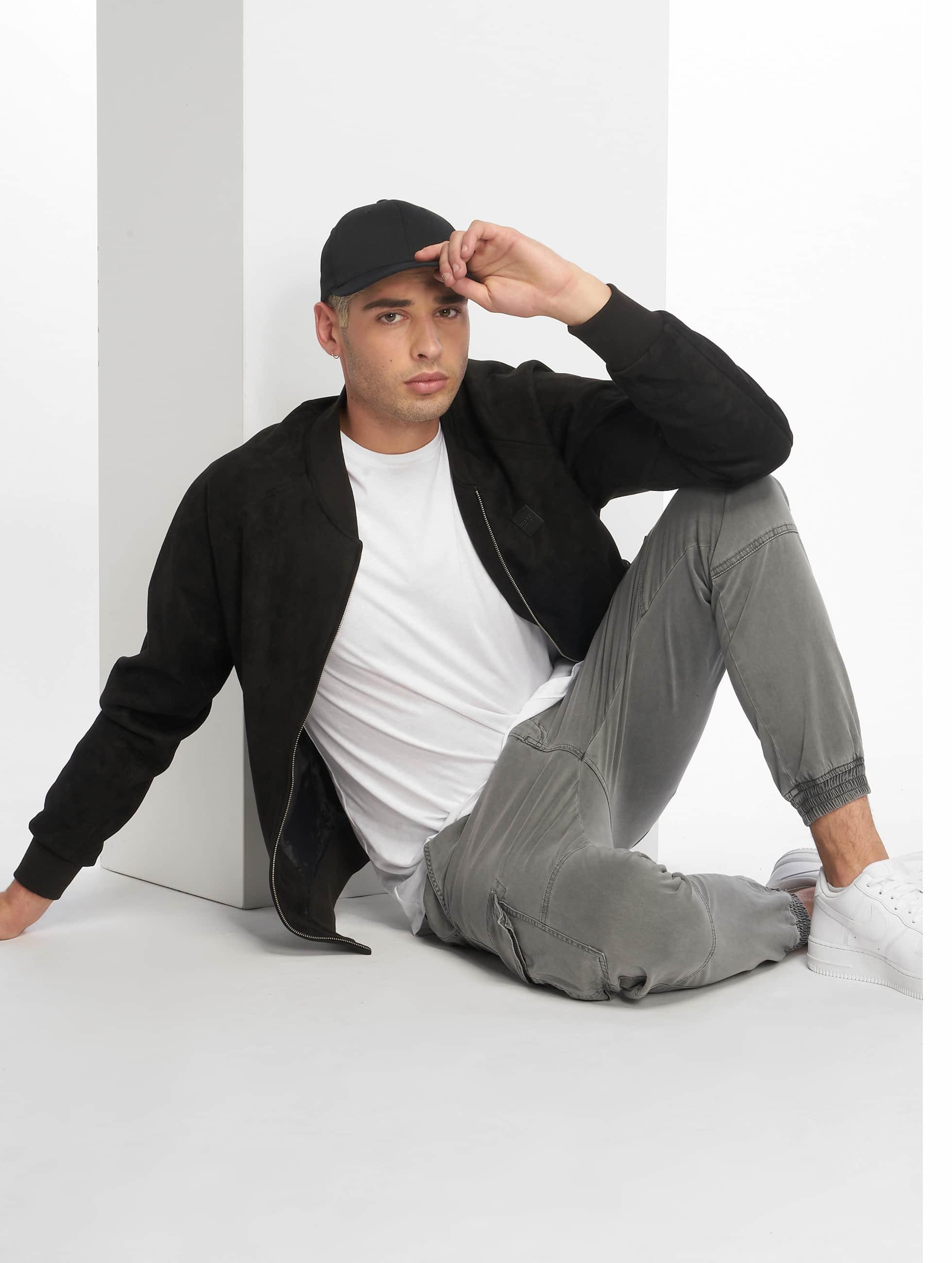 Urban Classics Демисезонная куртка Imitation Suede черный