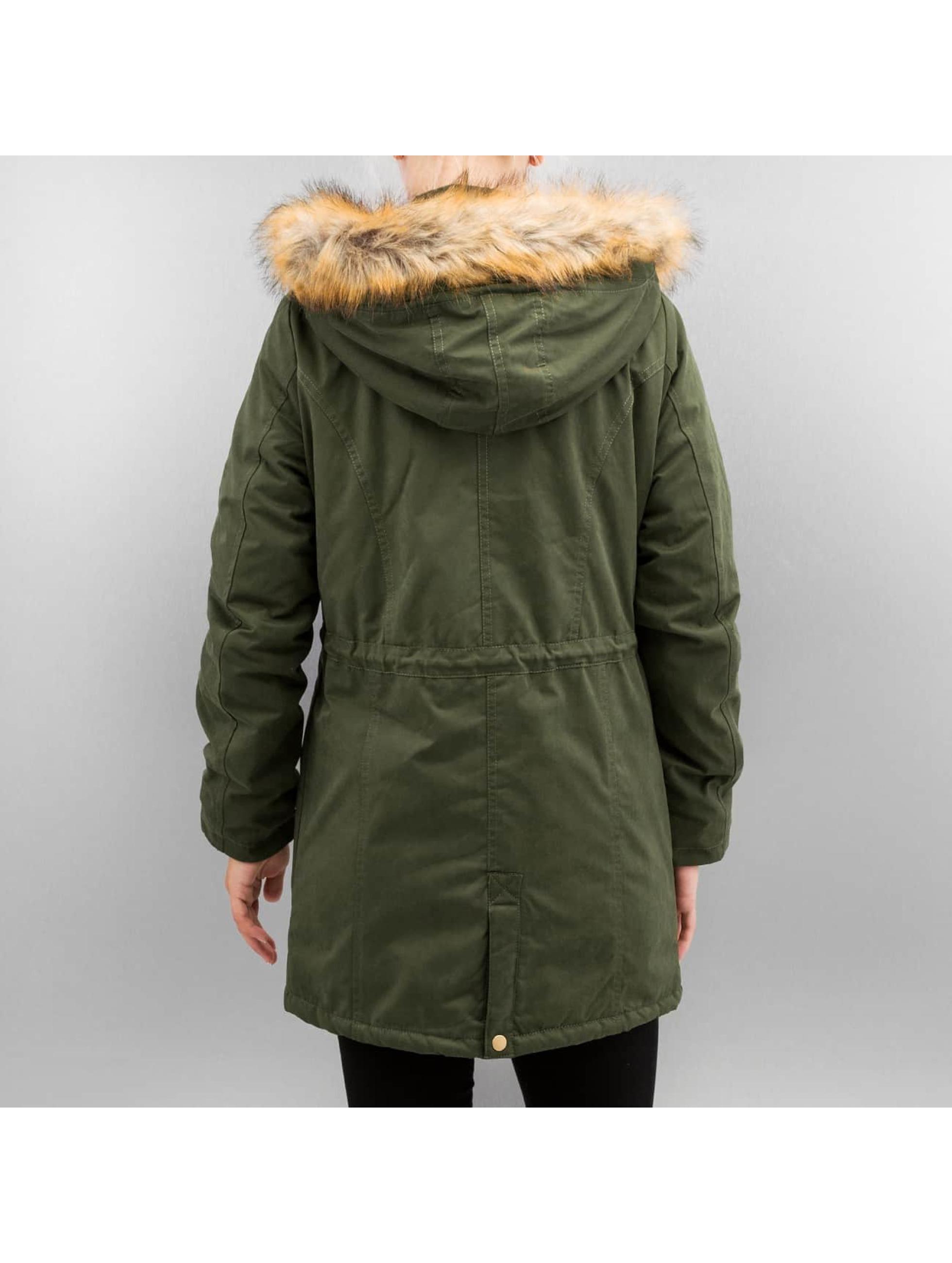 Urban Classics Зимняя куртка Ladies Sherpa Lined Peached оливковый