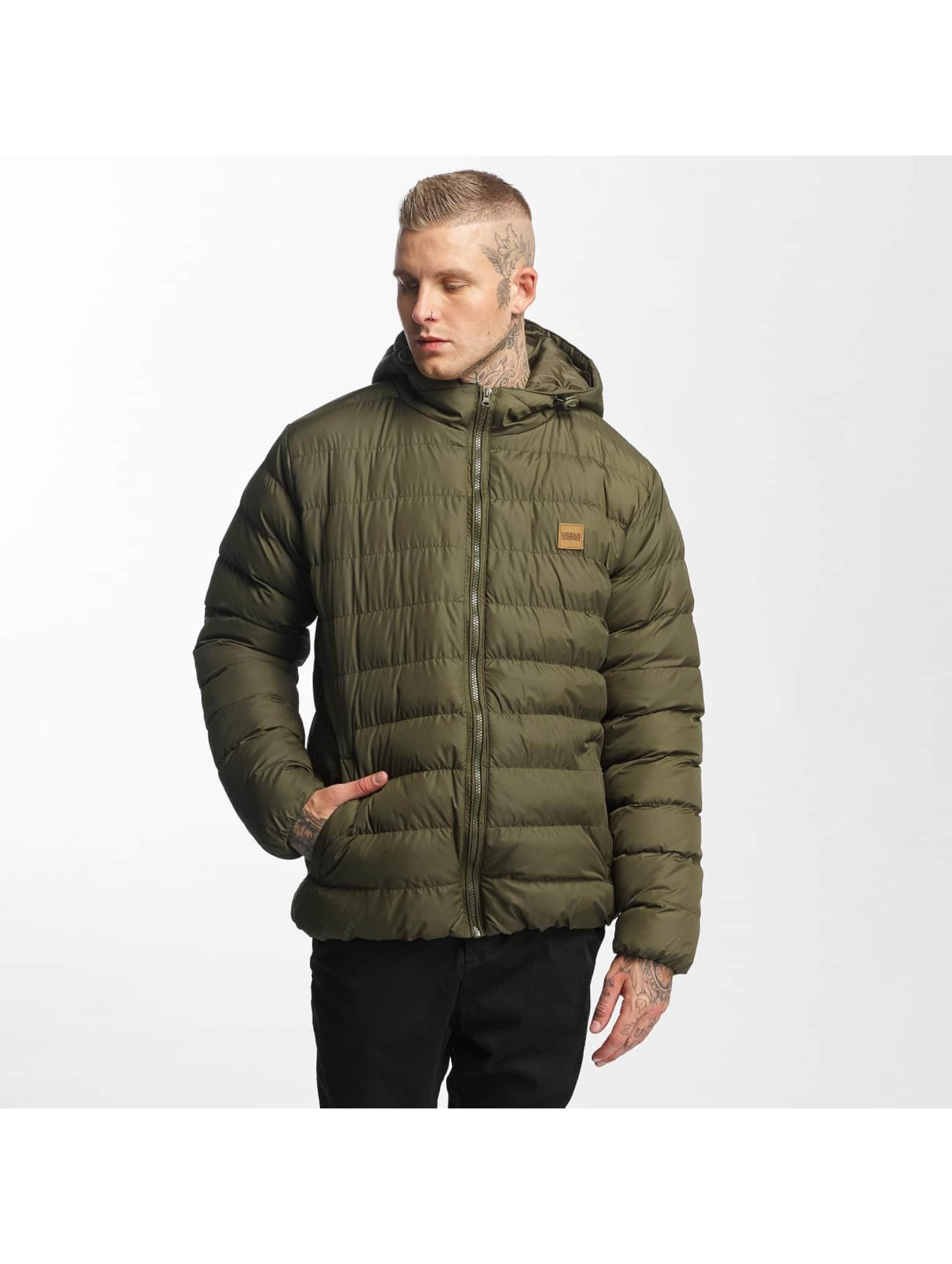 Urban Classics Зимняя куртка Basic Bubble оливковый