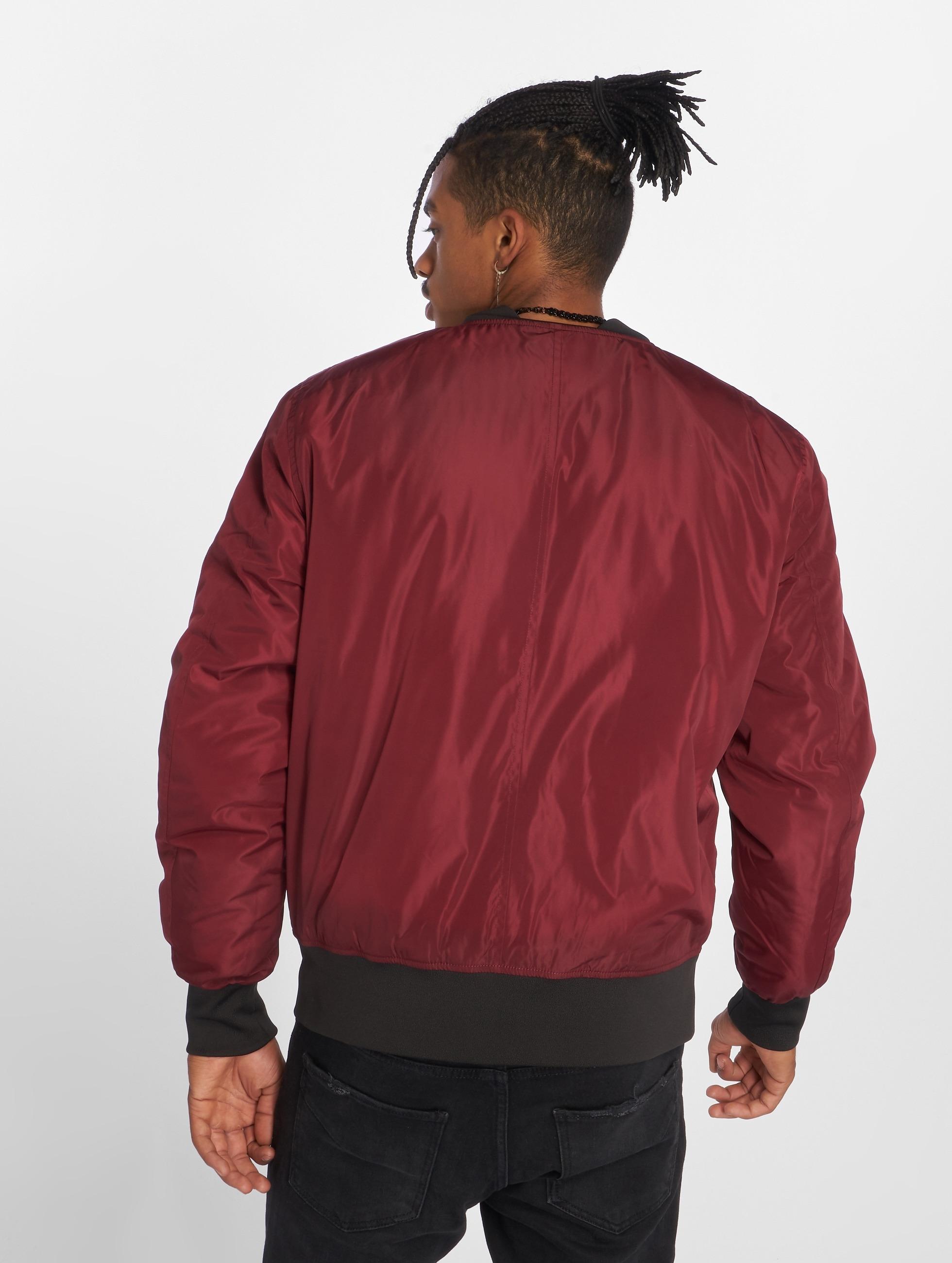 Urban Classics Куртка-бомбардир 2-Tone красный