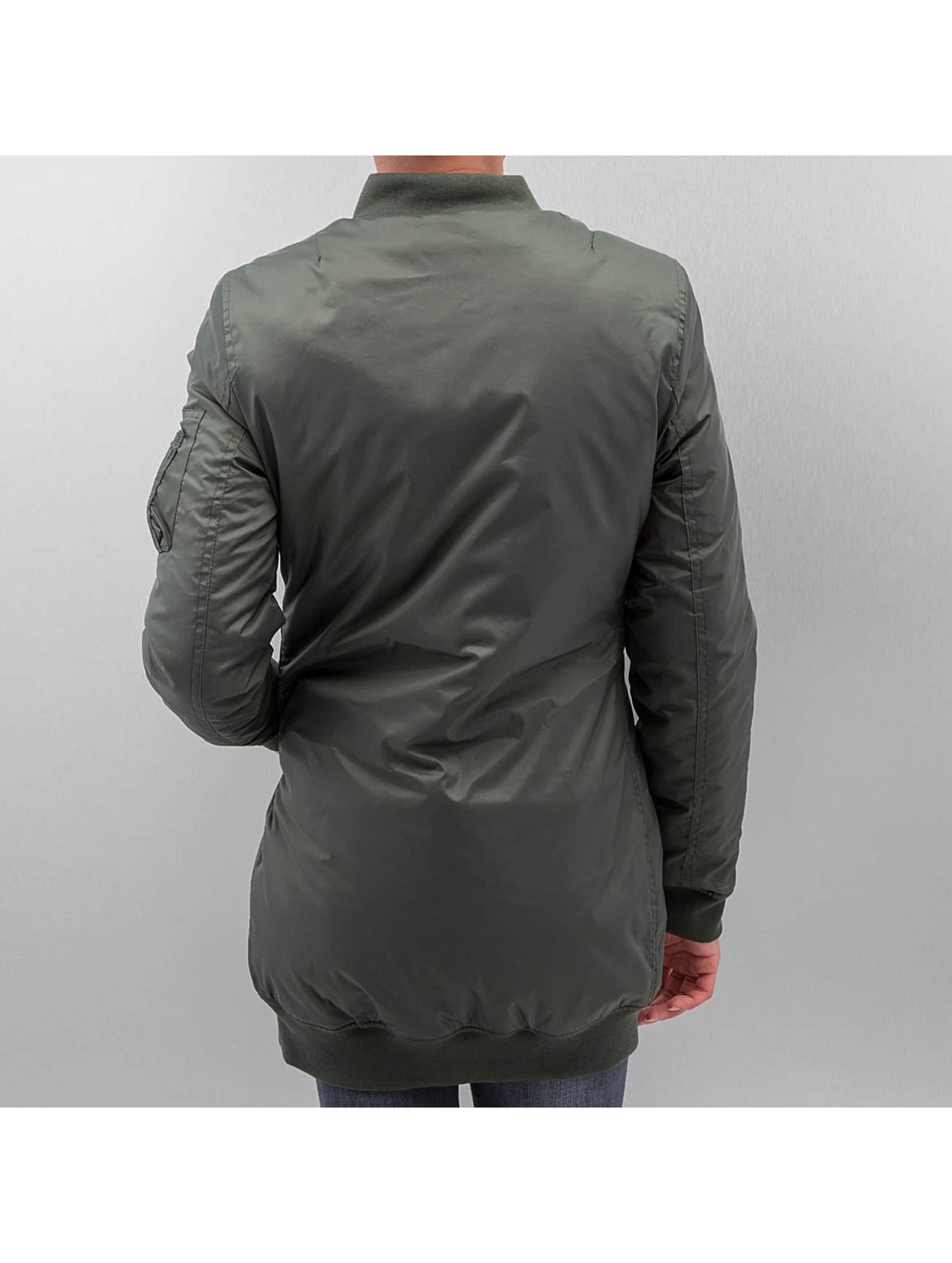 Urban Classics Куртка-бомбардир Long оливковый