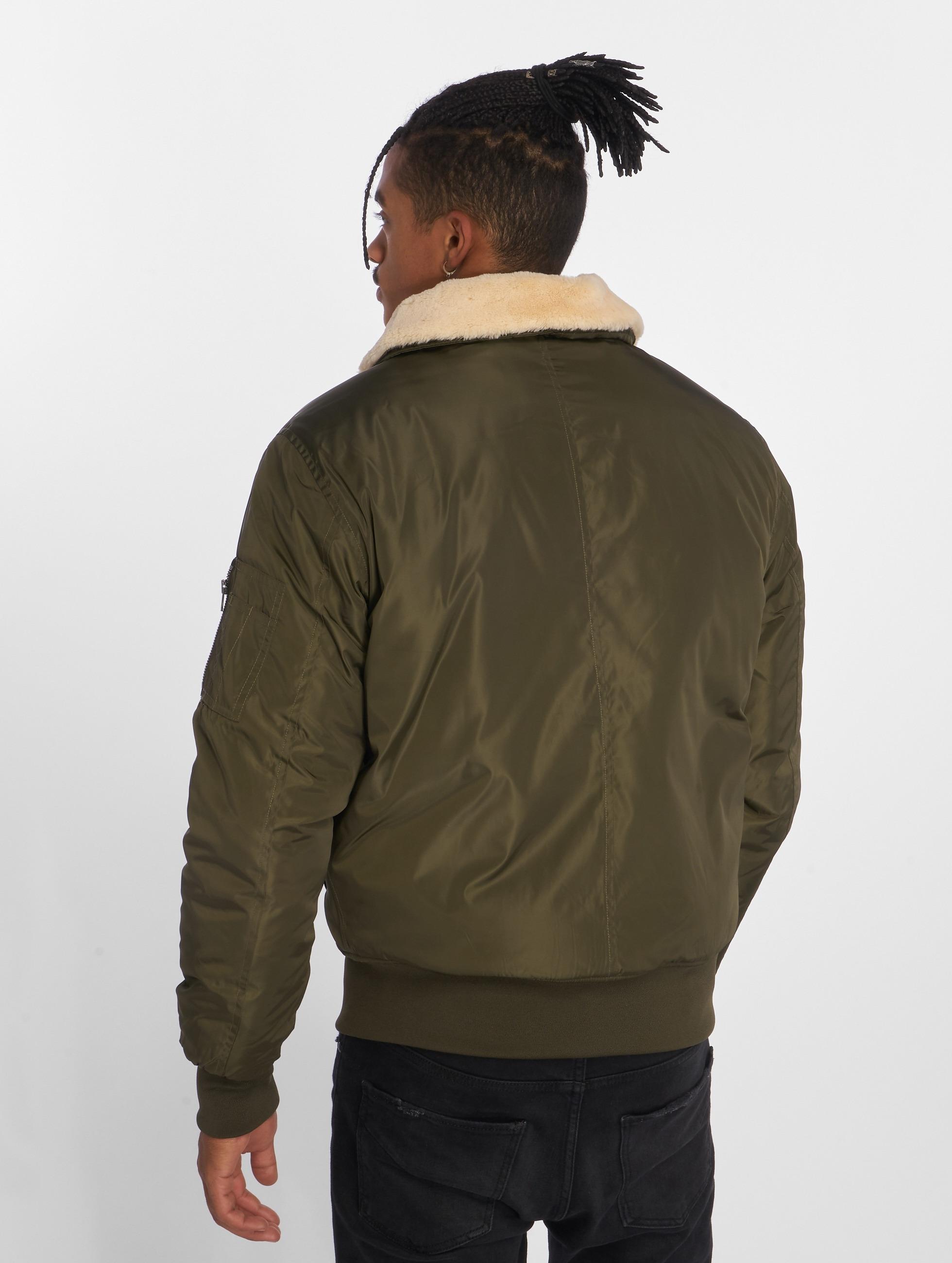 Urban Classics Куртка-бомбардир Pilot оливковый
