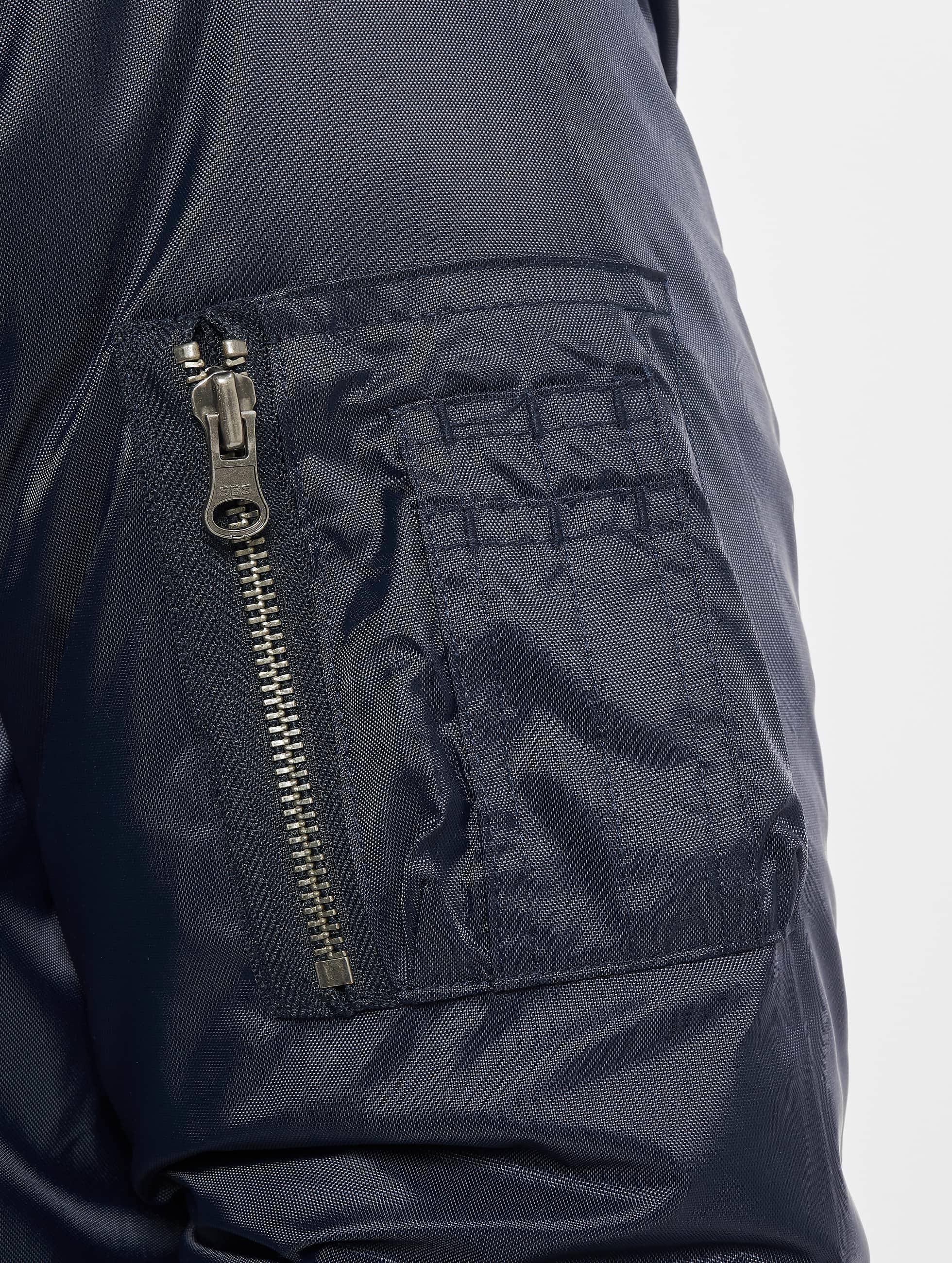 Urban Classics Куртка-бомбардир Basic синий